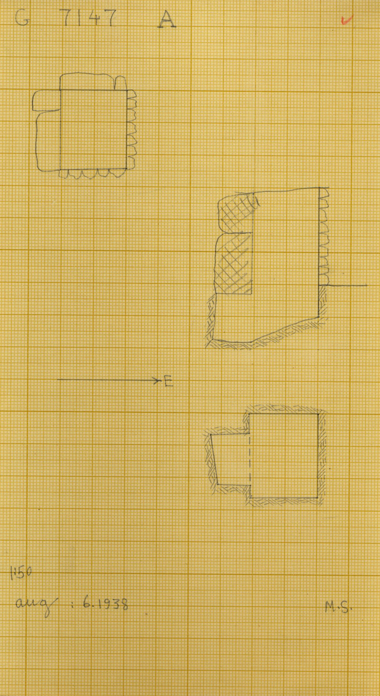 Maps and plans: G 7145+7147: G 7147, Shaft A