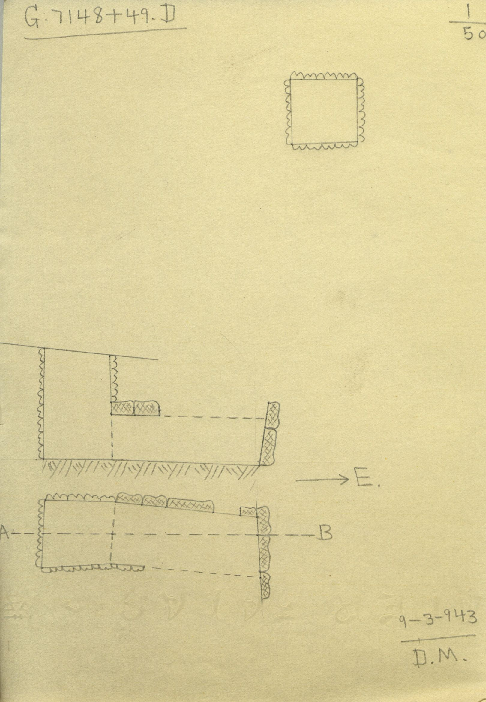 Maps and plans: G 7148+7149: G 7148, Shaft D