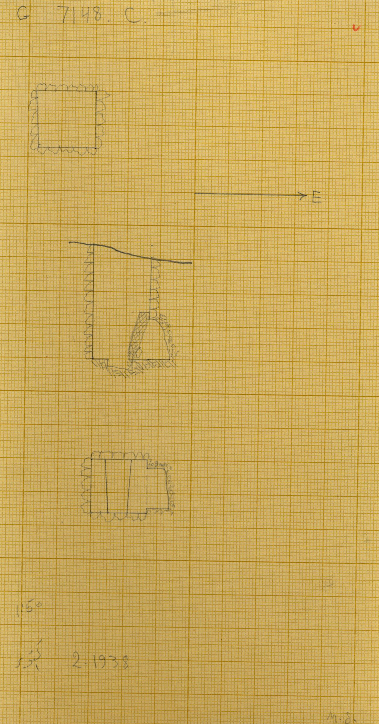 Maps and plans: G 7148+7149: G 7148, Shaft C