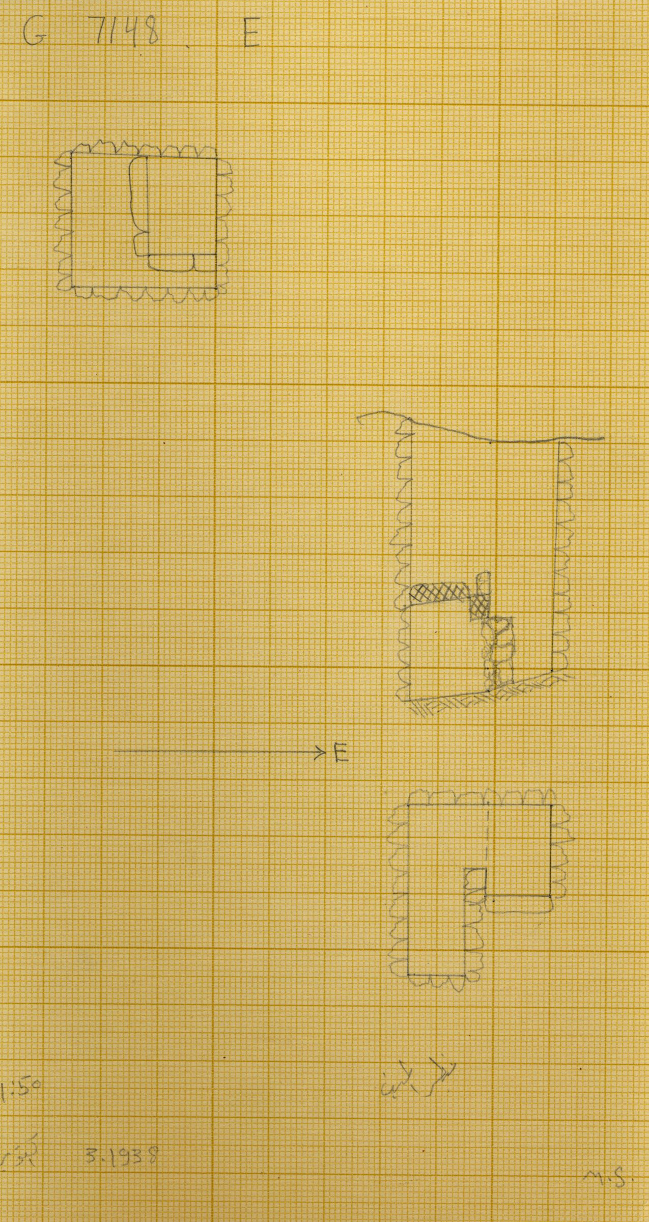 Maps and plans: G 7148+7149: G 7148, Shaft E