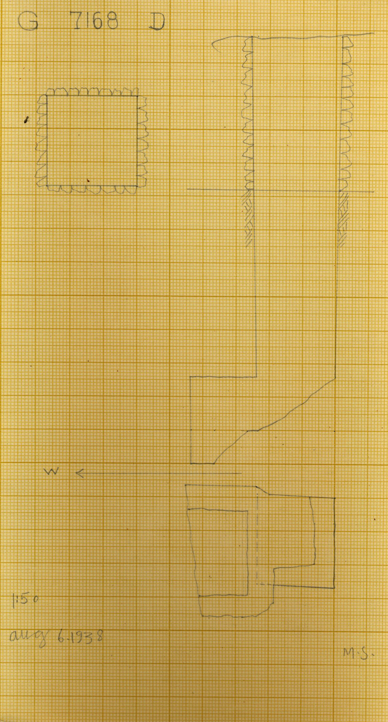 Maps and plans: G 7168, Shaft D