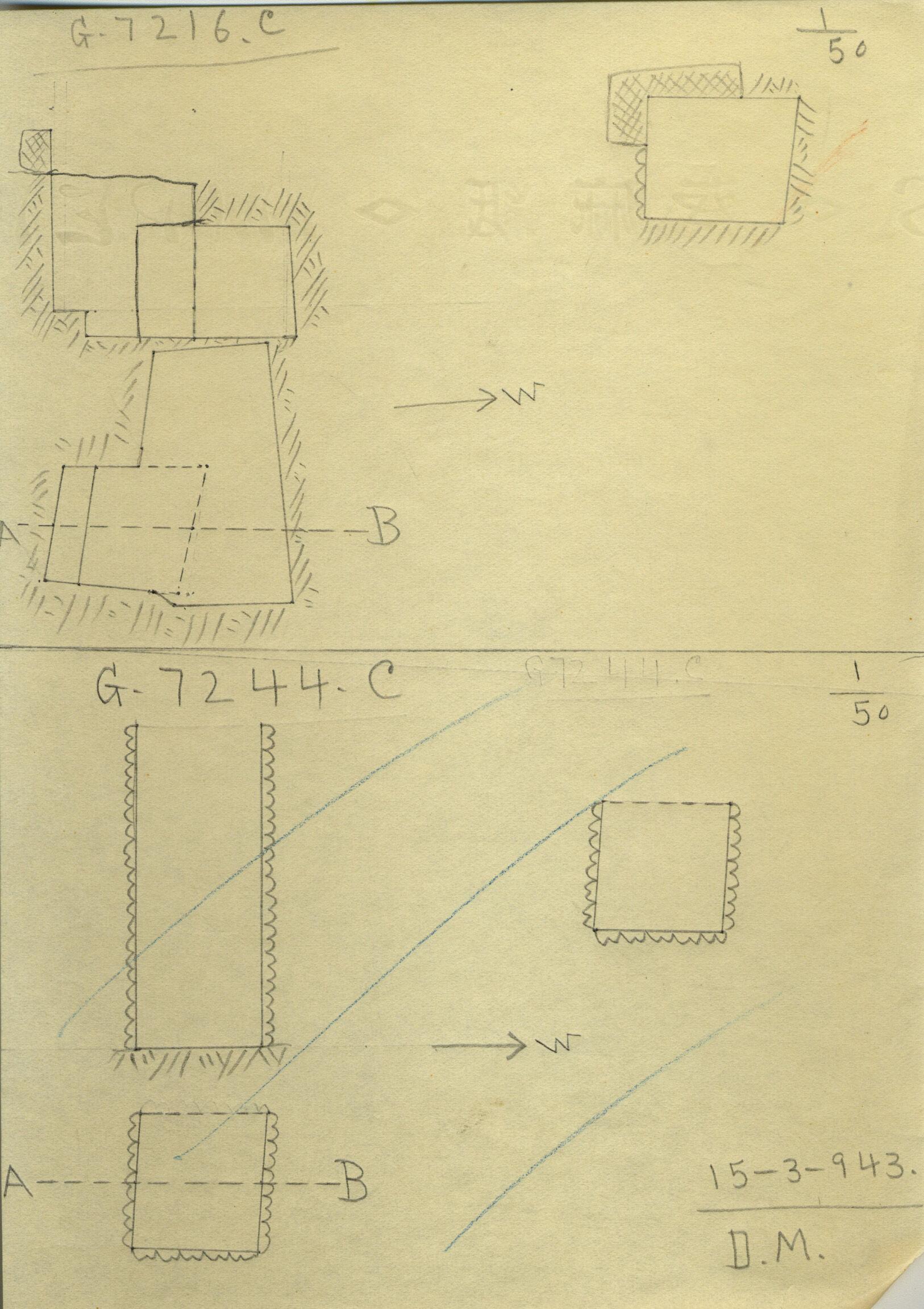 Maps and plans: G 7216, Shaft C & G 7244+7246: G 7244, Shaft C