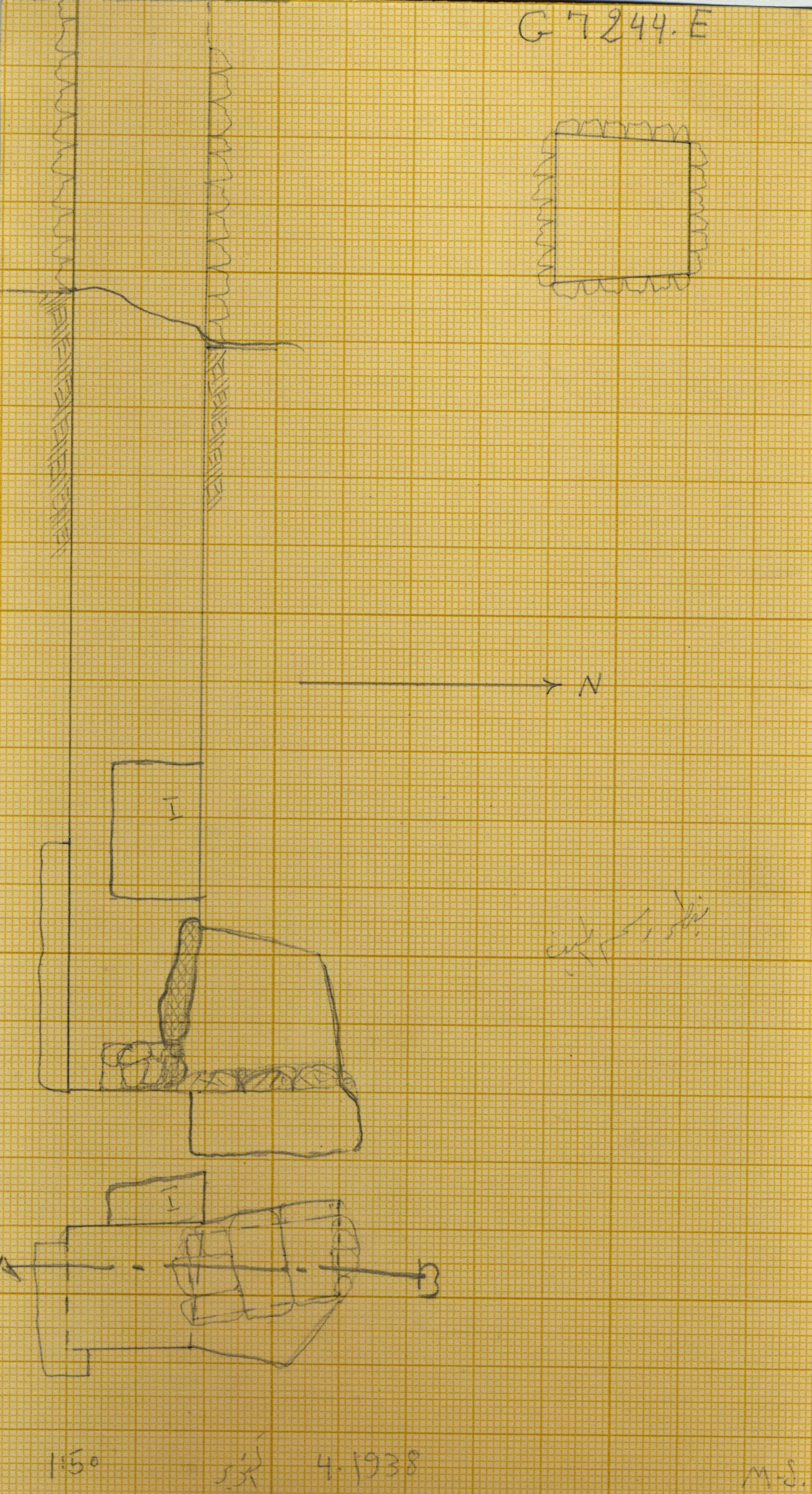 Maps and plans: G 7244+7246: G 7244, Shaft E