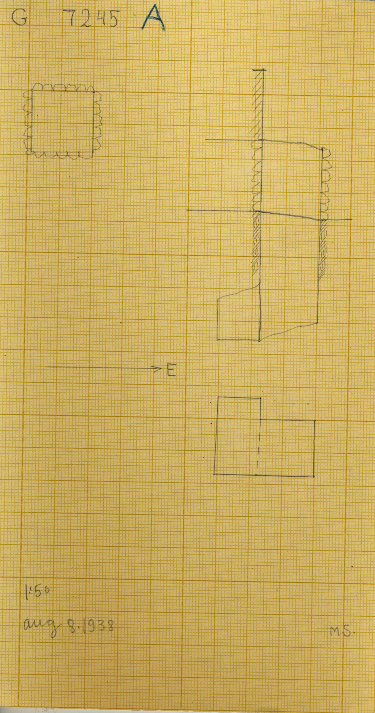 Maps and plans: G 7245, Shaft A