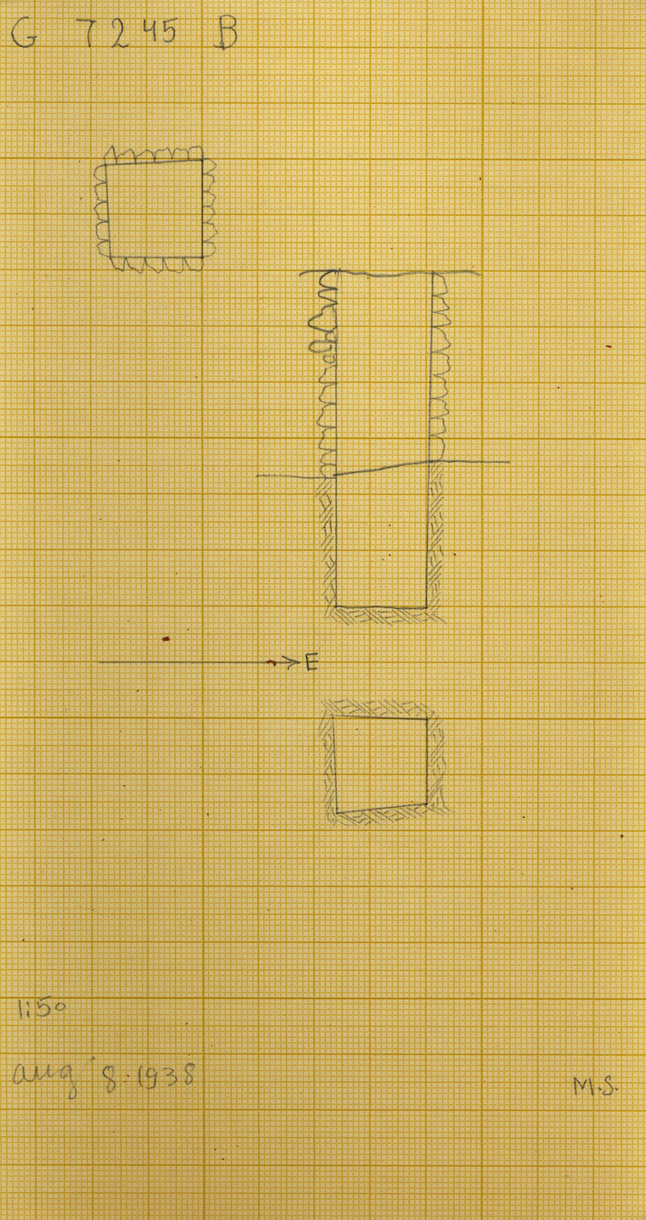 Maps and plans: G 7245, Shaft B