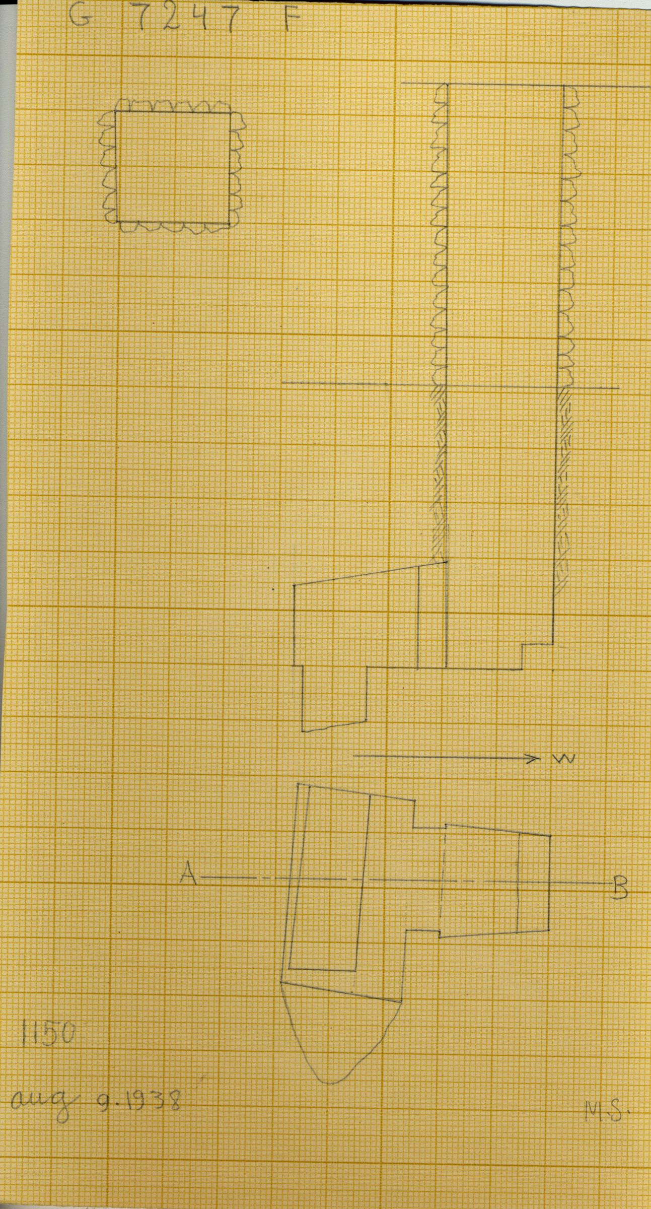Maps and plans: G 7247, Shaft F