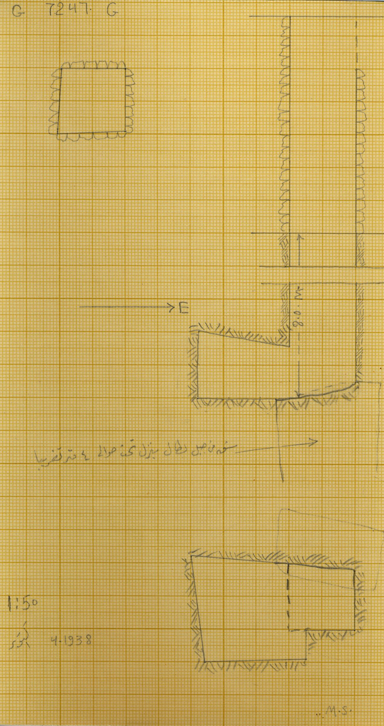 Maps and plans: G 7247, Shaft G