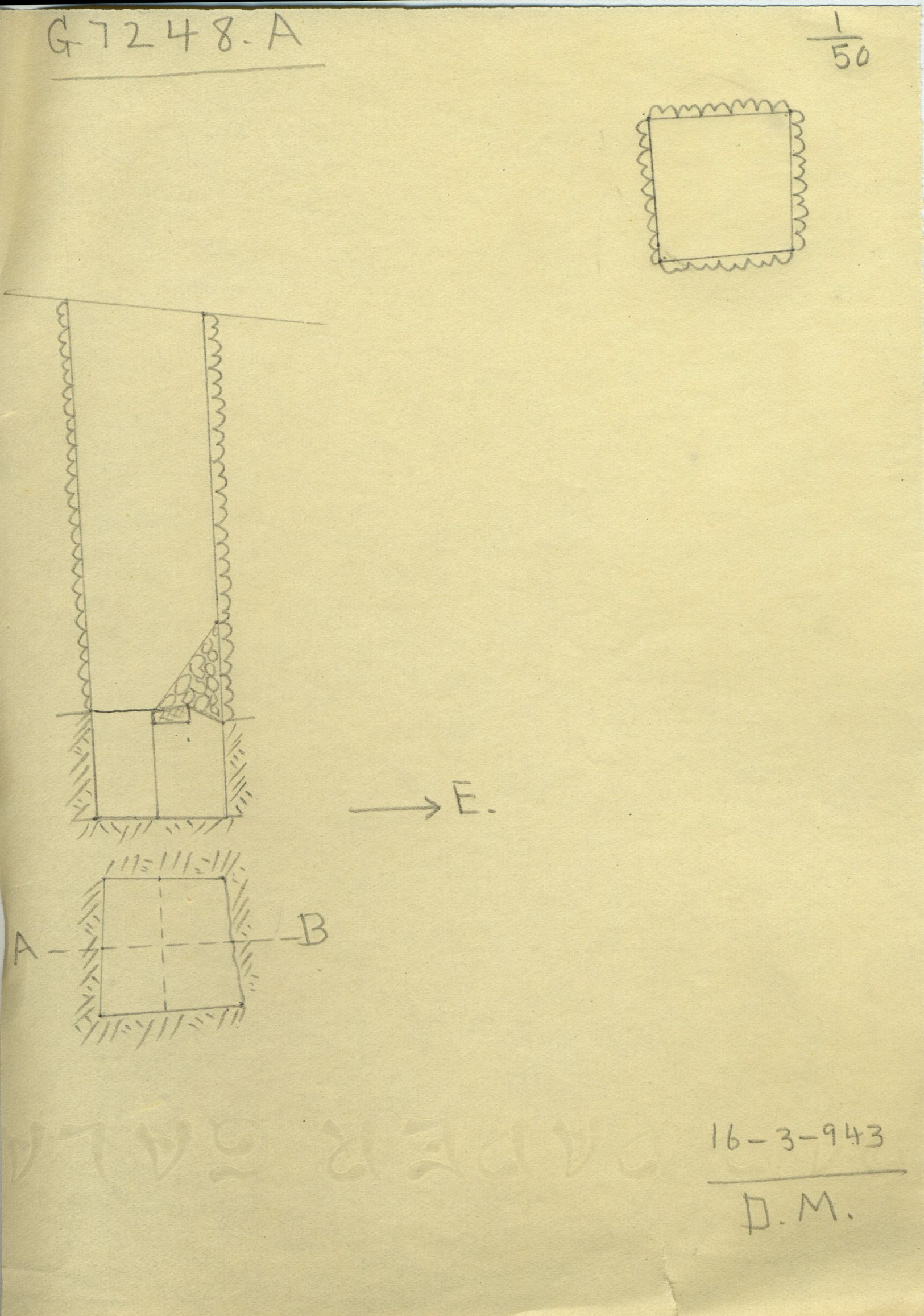 Maps and plans: G 7248, Shaft A