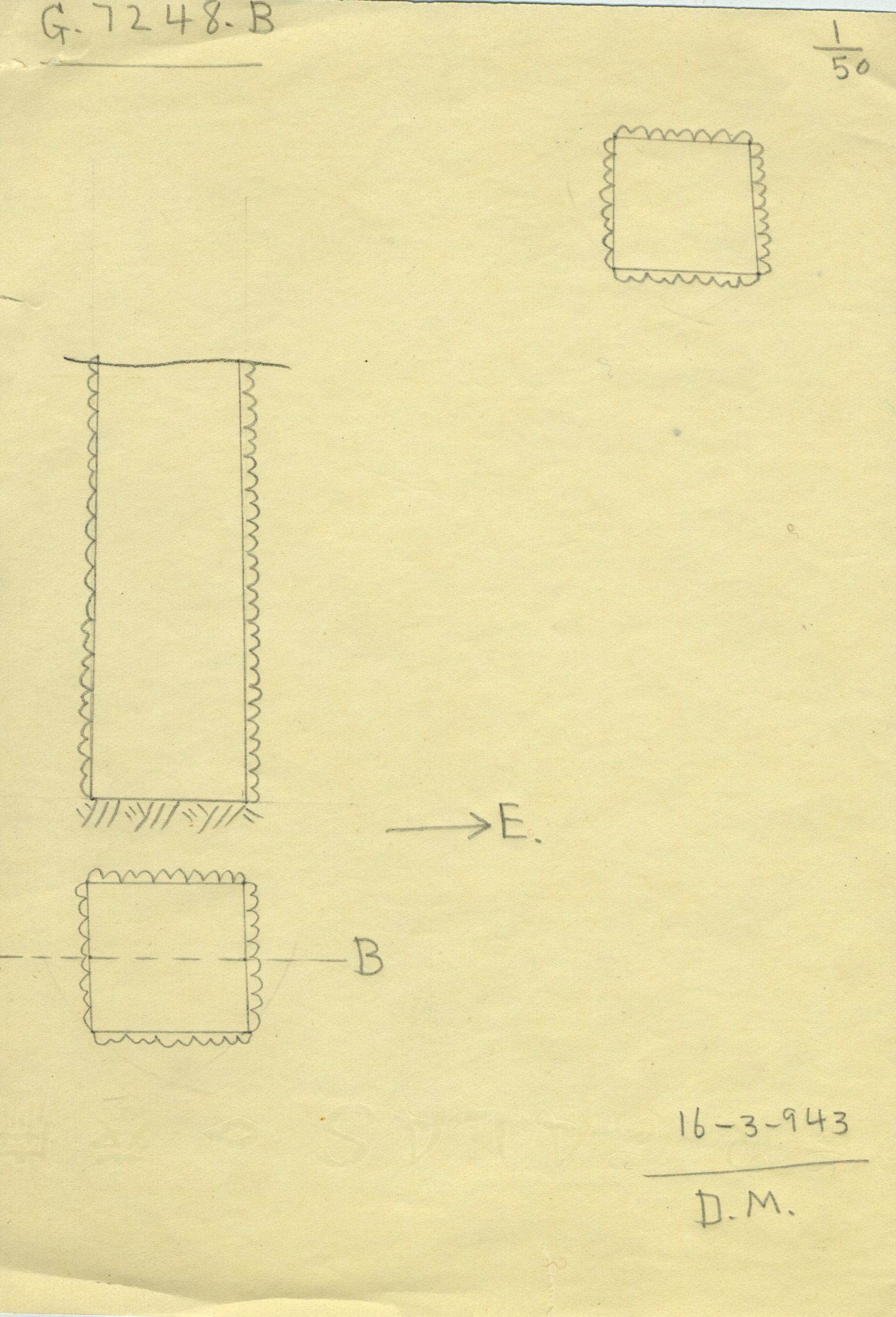 Maps and plans: G 7248, Shaft B