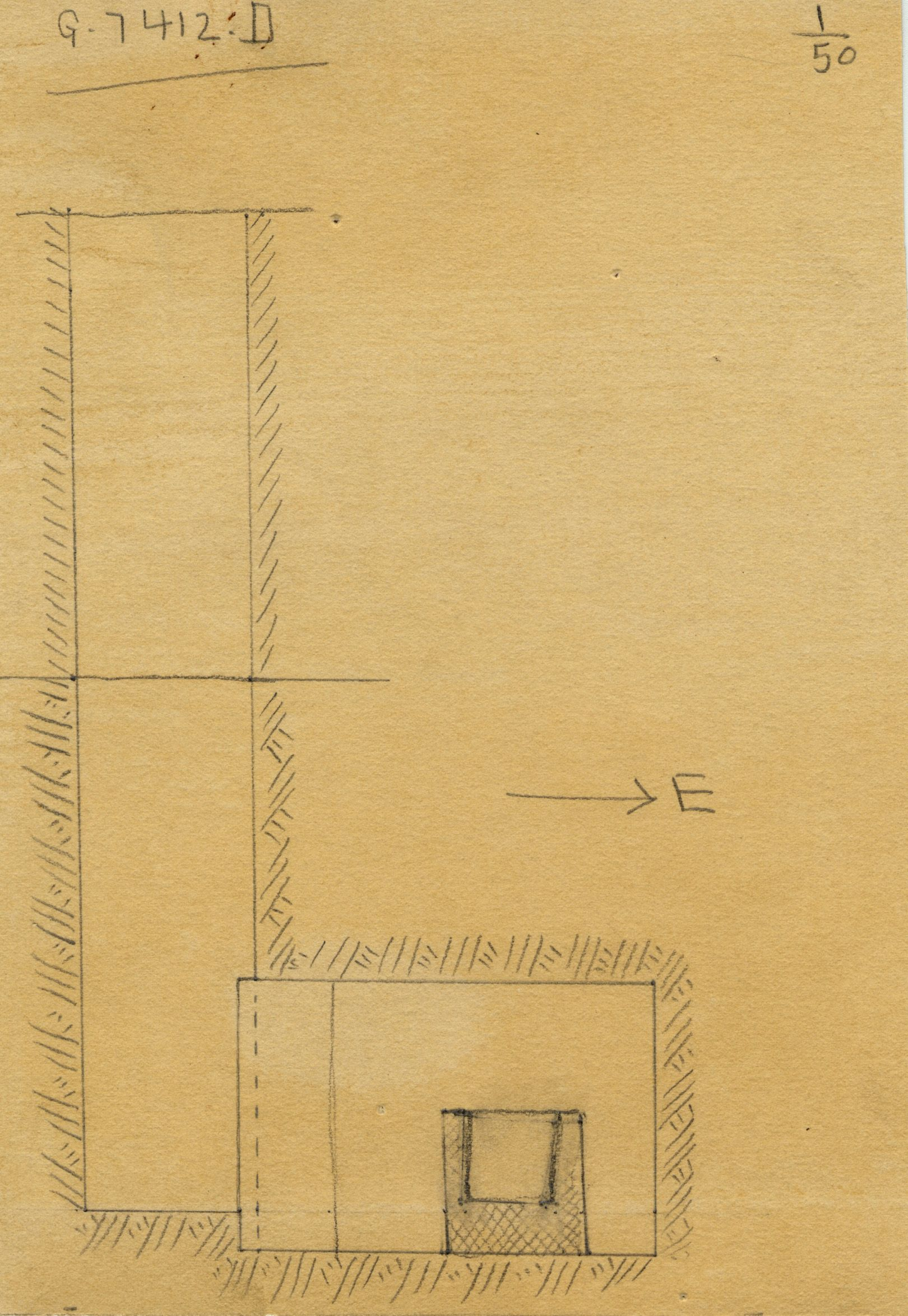 Maps and plans: G 7412, Shaft D
