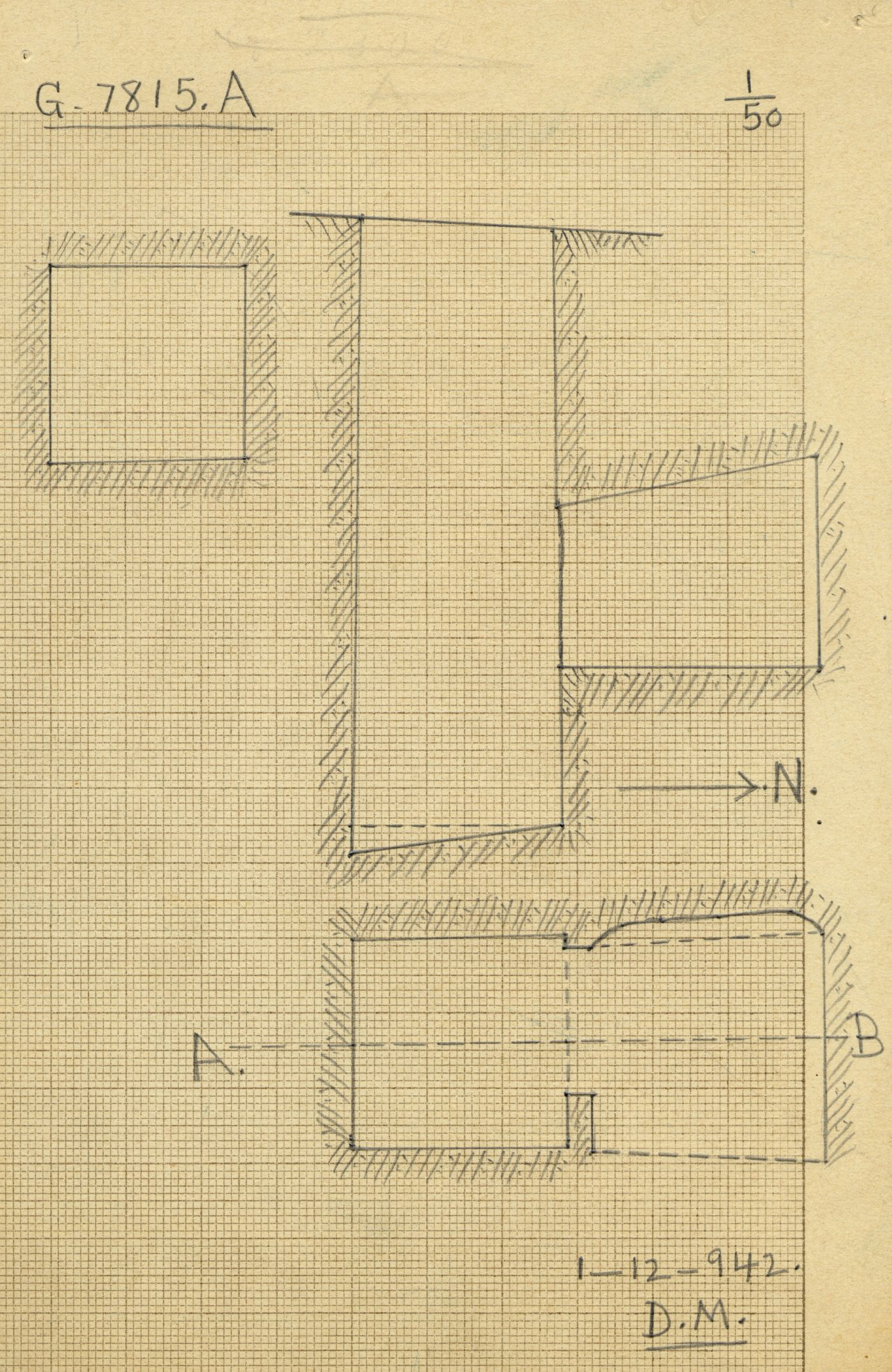 Maps and plans: G 7815, Shaft A