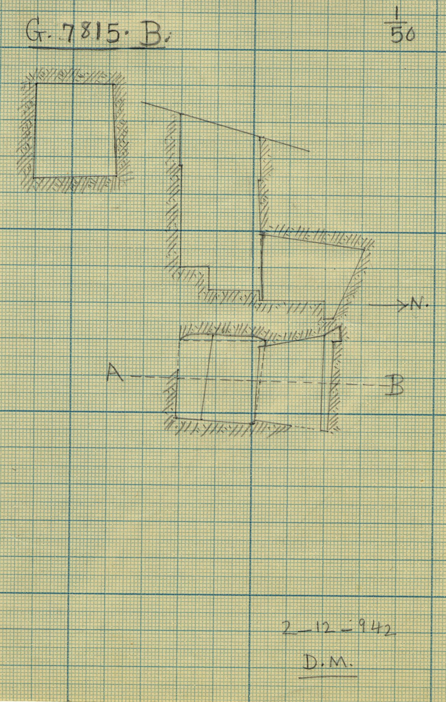 Maps and plans: G 7815, Shaft B