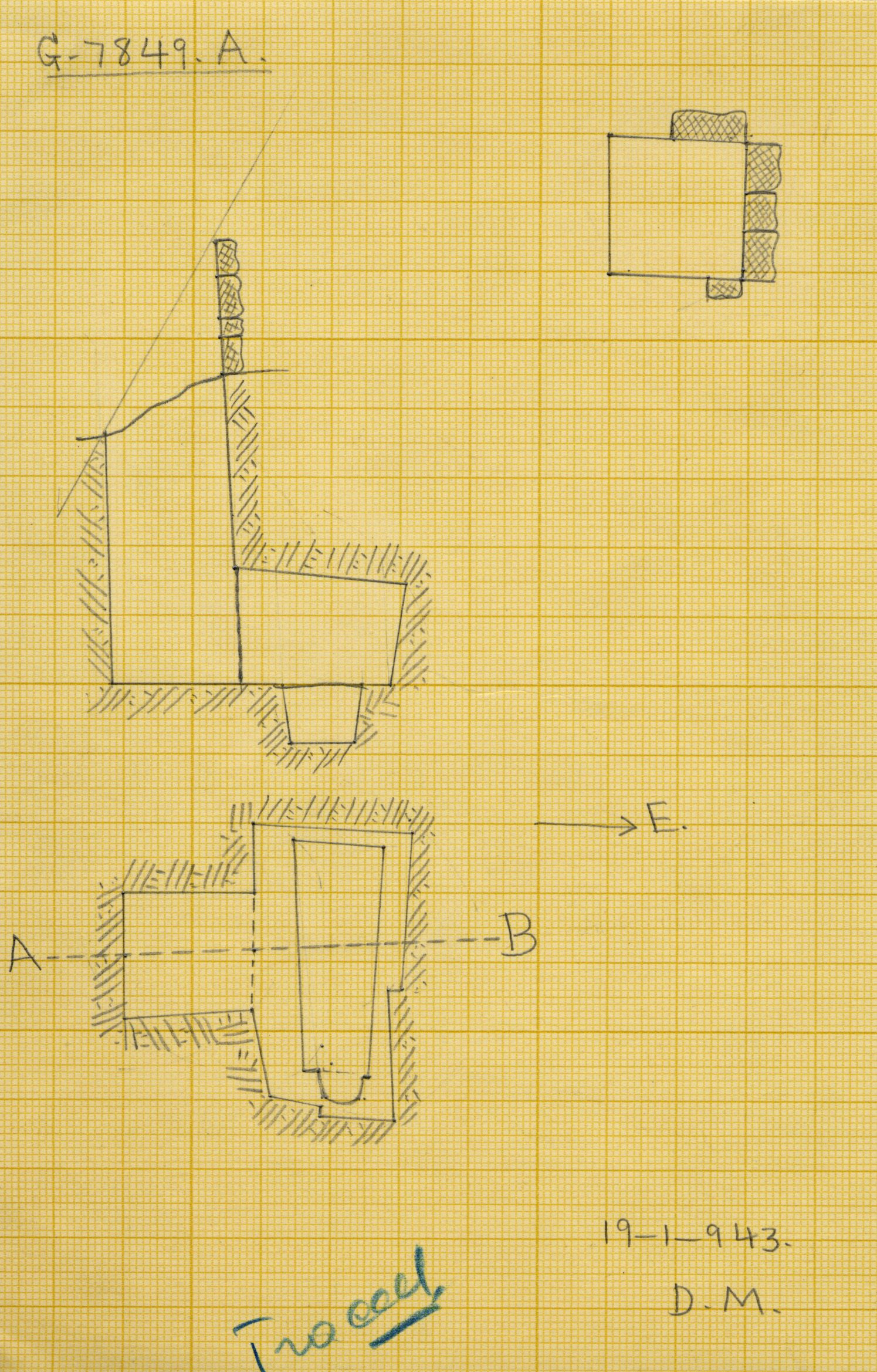 Maps and plans: G 7849, Shaft A