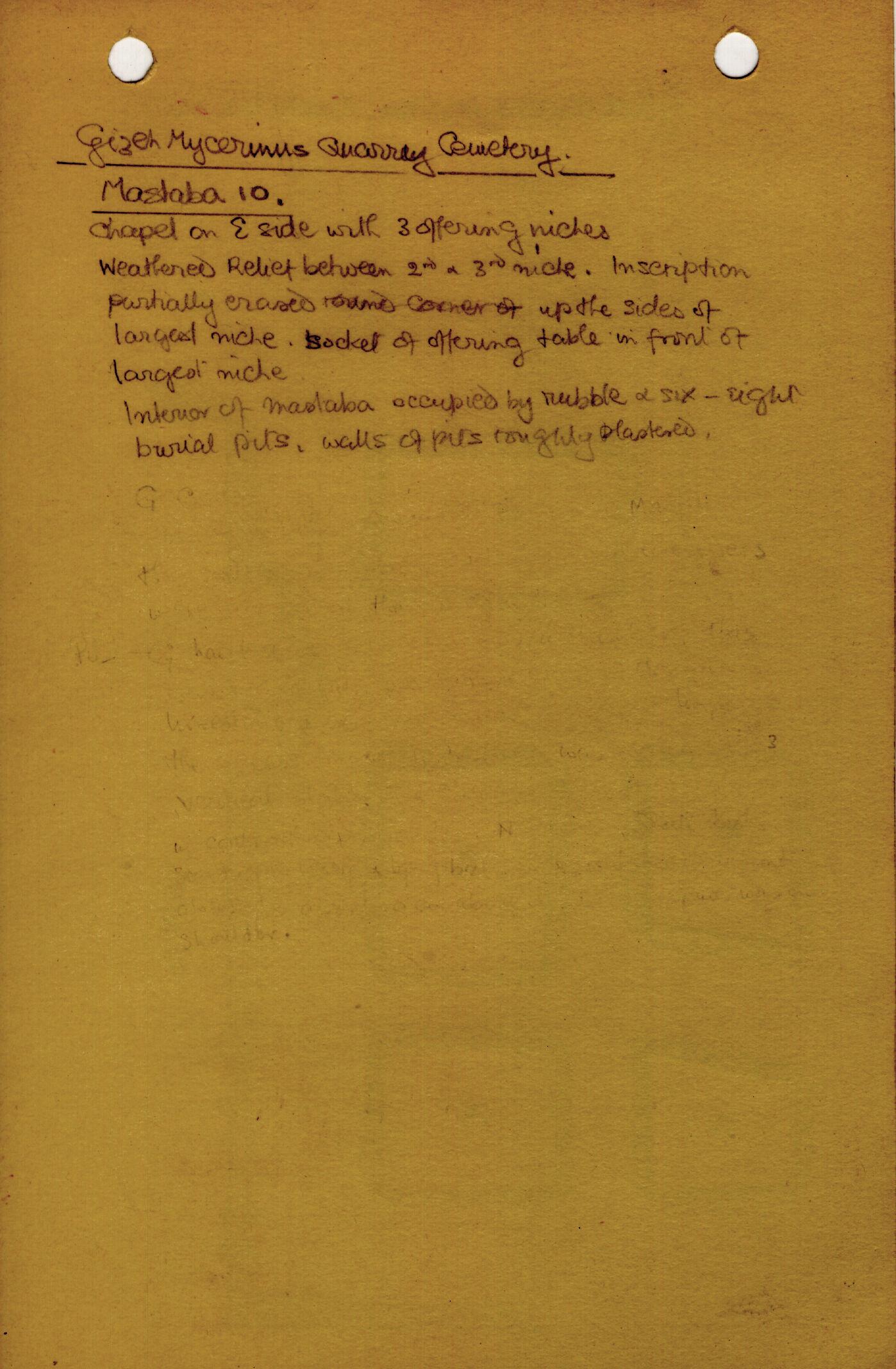 Notes: MQ 10, Notes