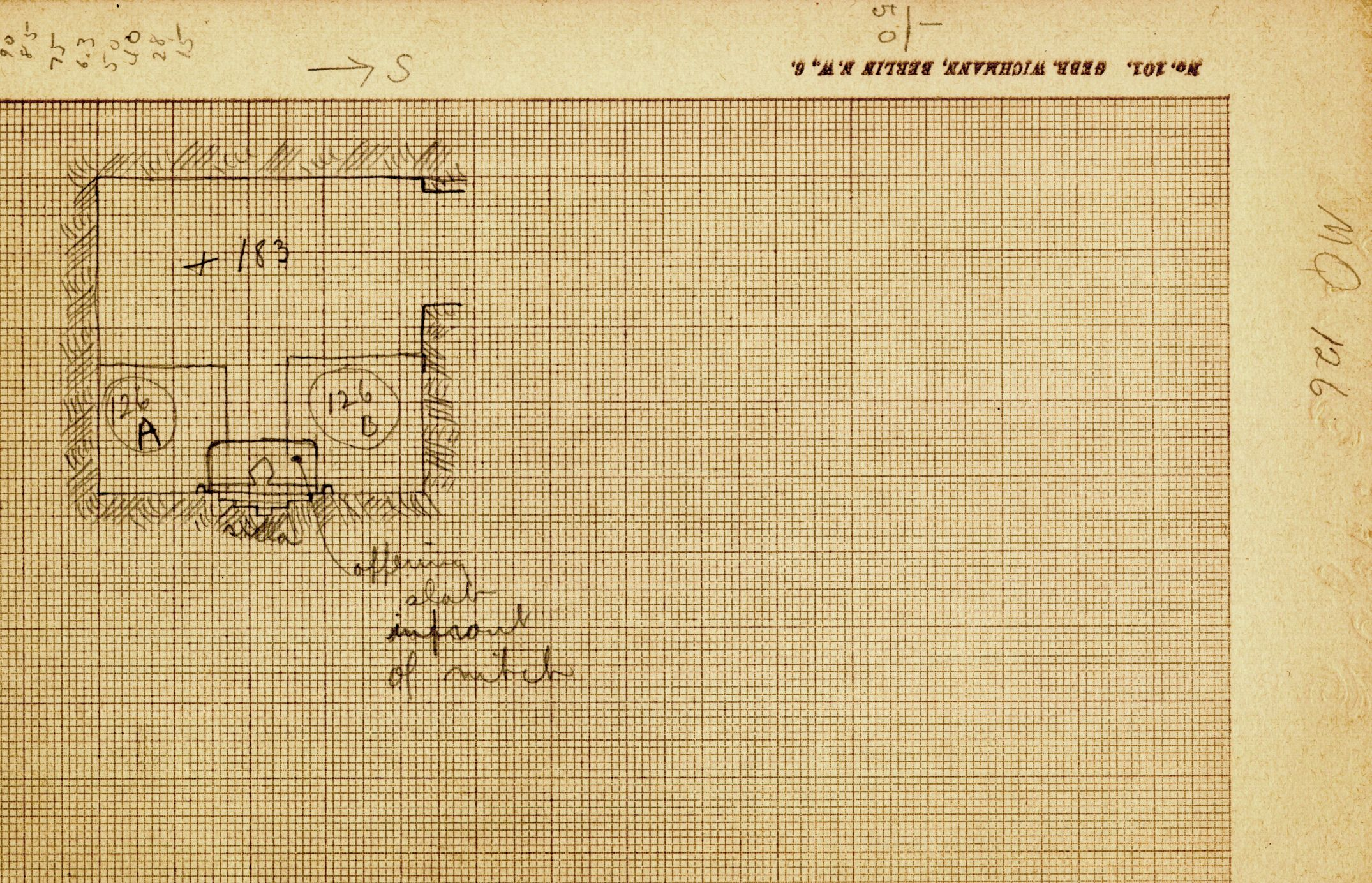 Maps and plans: MQ 126, Plan of chapel