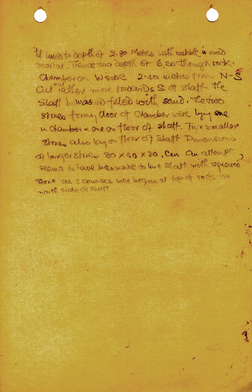Notes: MQ 6, Shaft B, notes