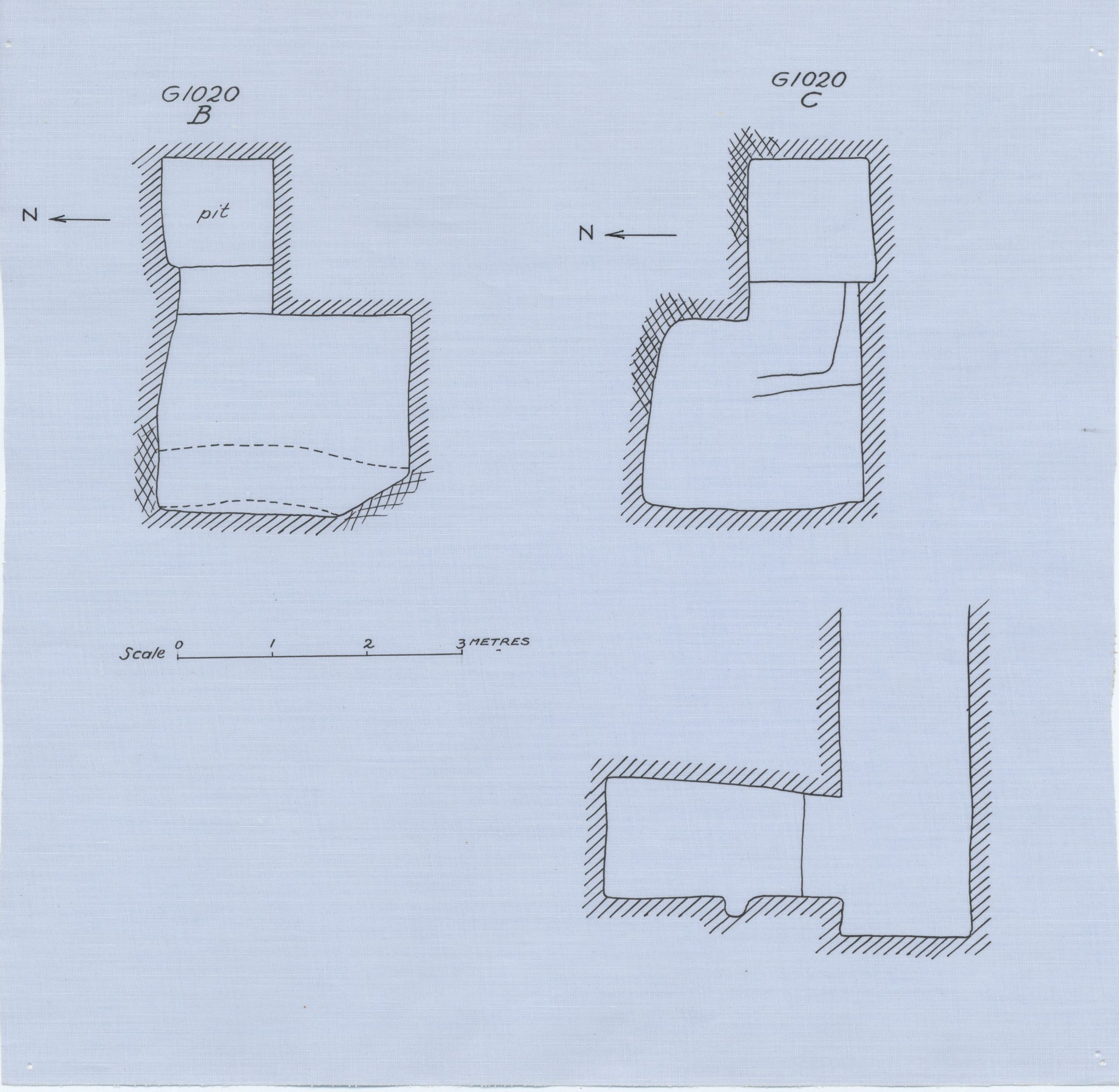 Maps and plans: G 1020, Shaft B and C