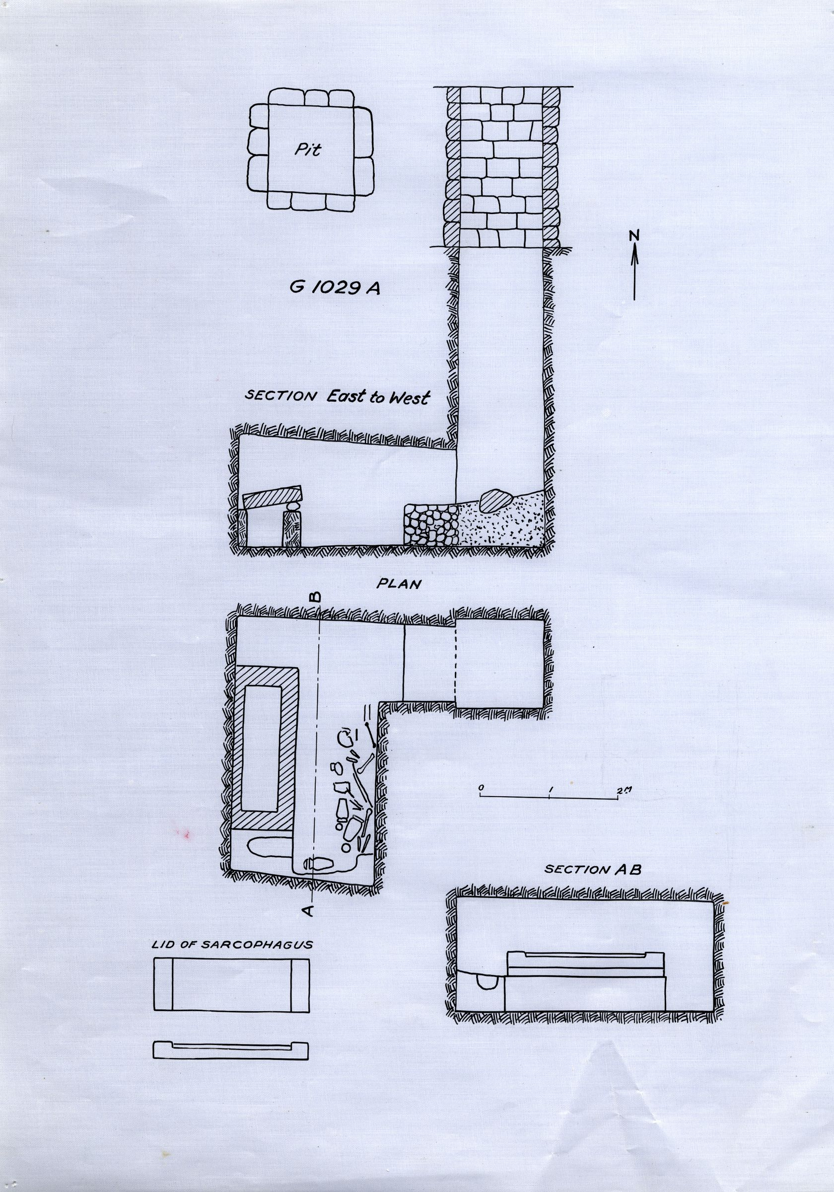 Maps and plans: G 1029, Shaft A