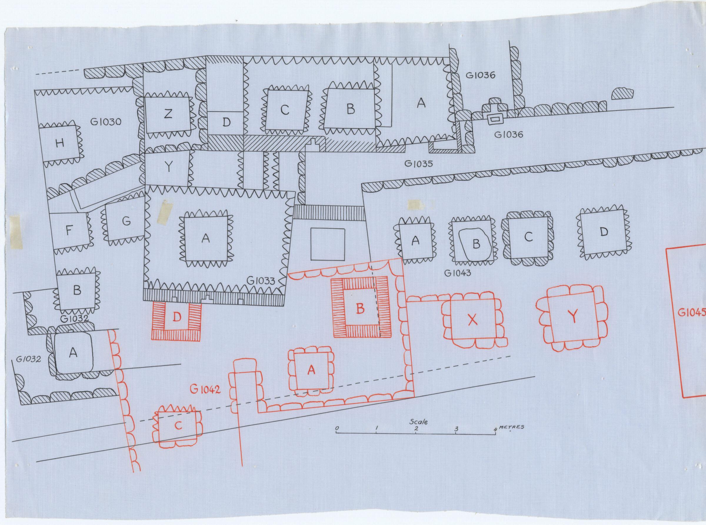 Maps and plans: Plan of G 1030, G 1032, G 1033+1033a, G 1035, G 1036, G 1042, G 1043