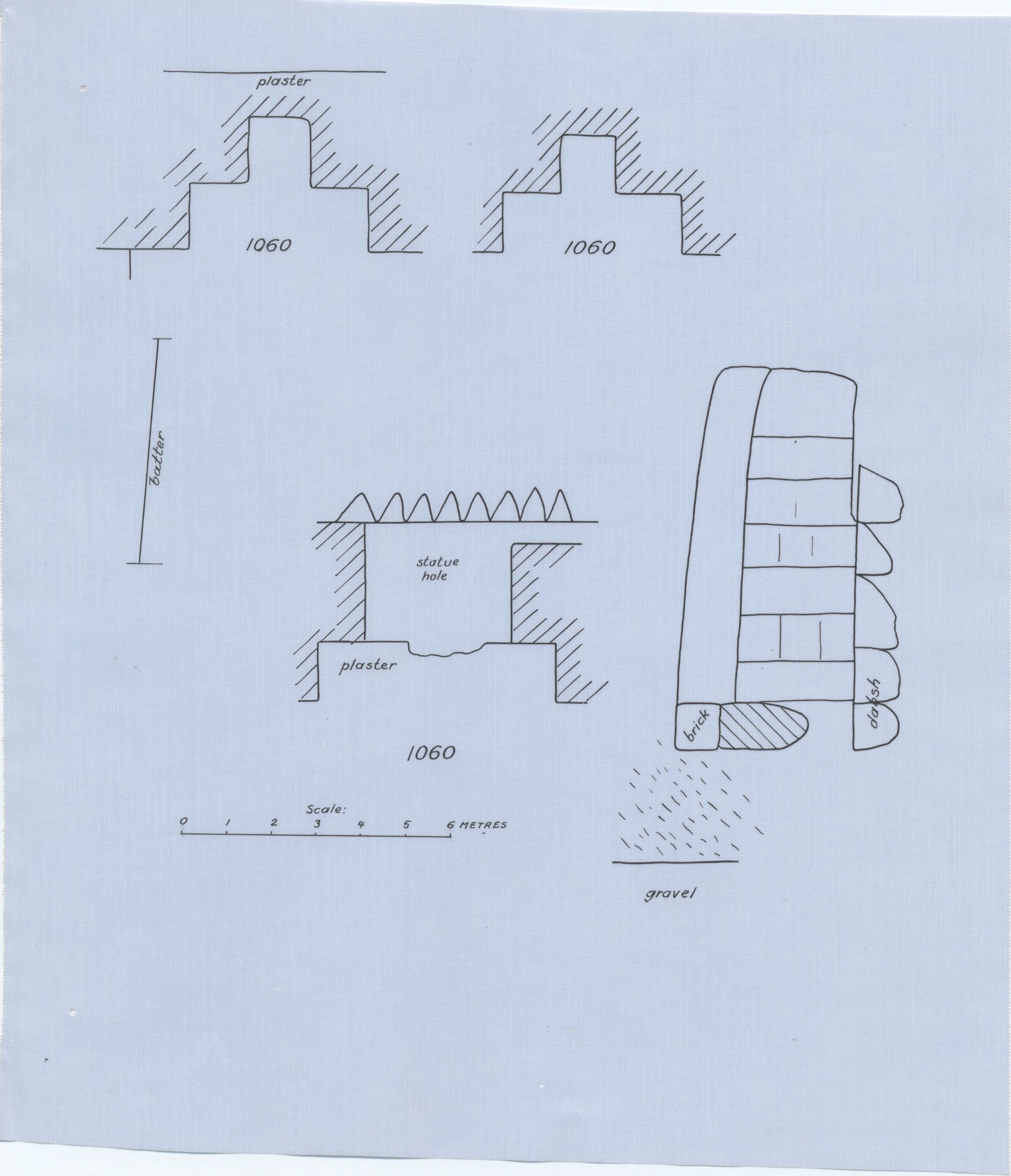 Maps and plans: G 1060, Plan and section of niches