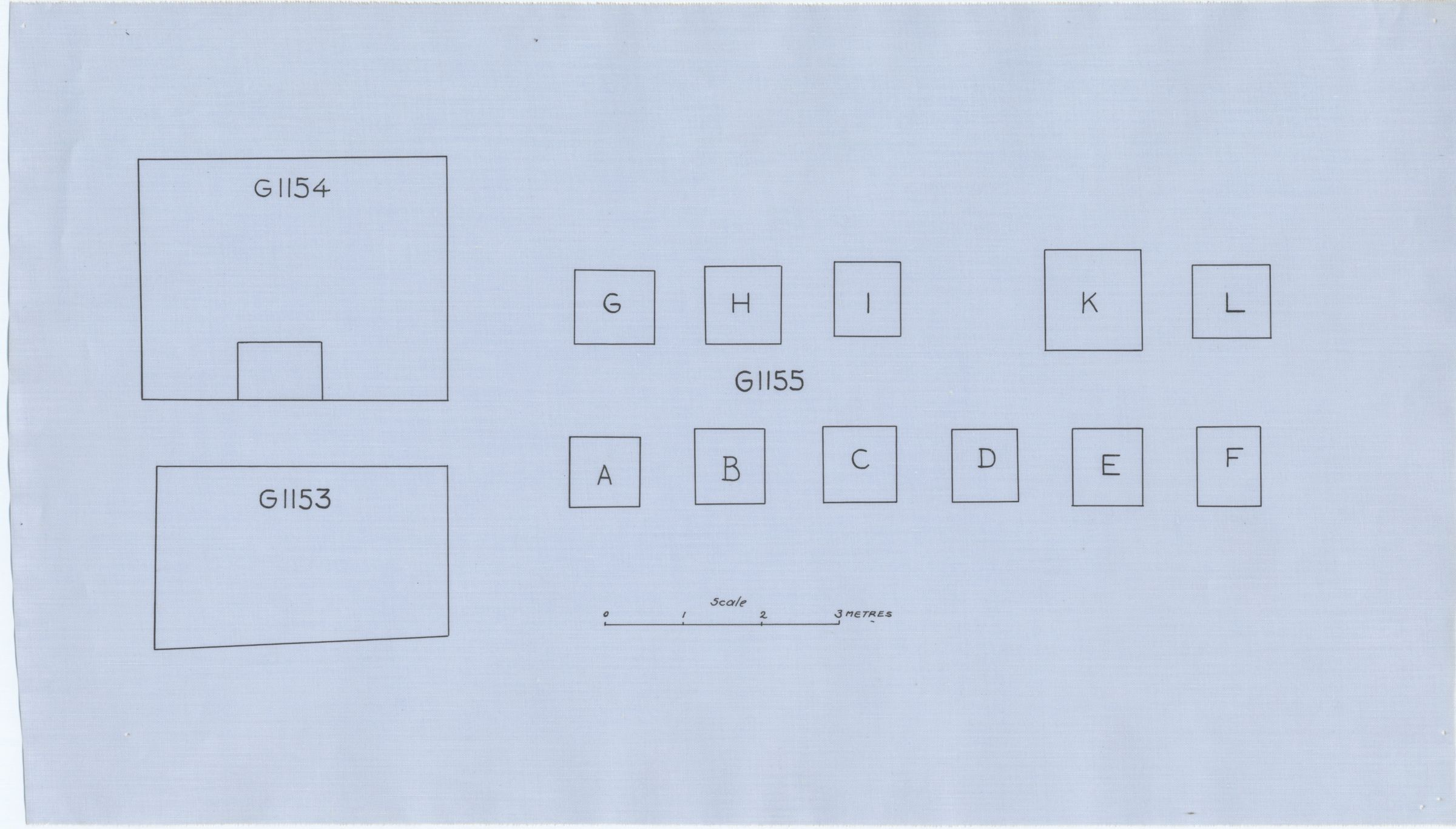 Maps and plans: Plan of G 1153, G 1154, G 1155