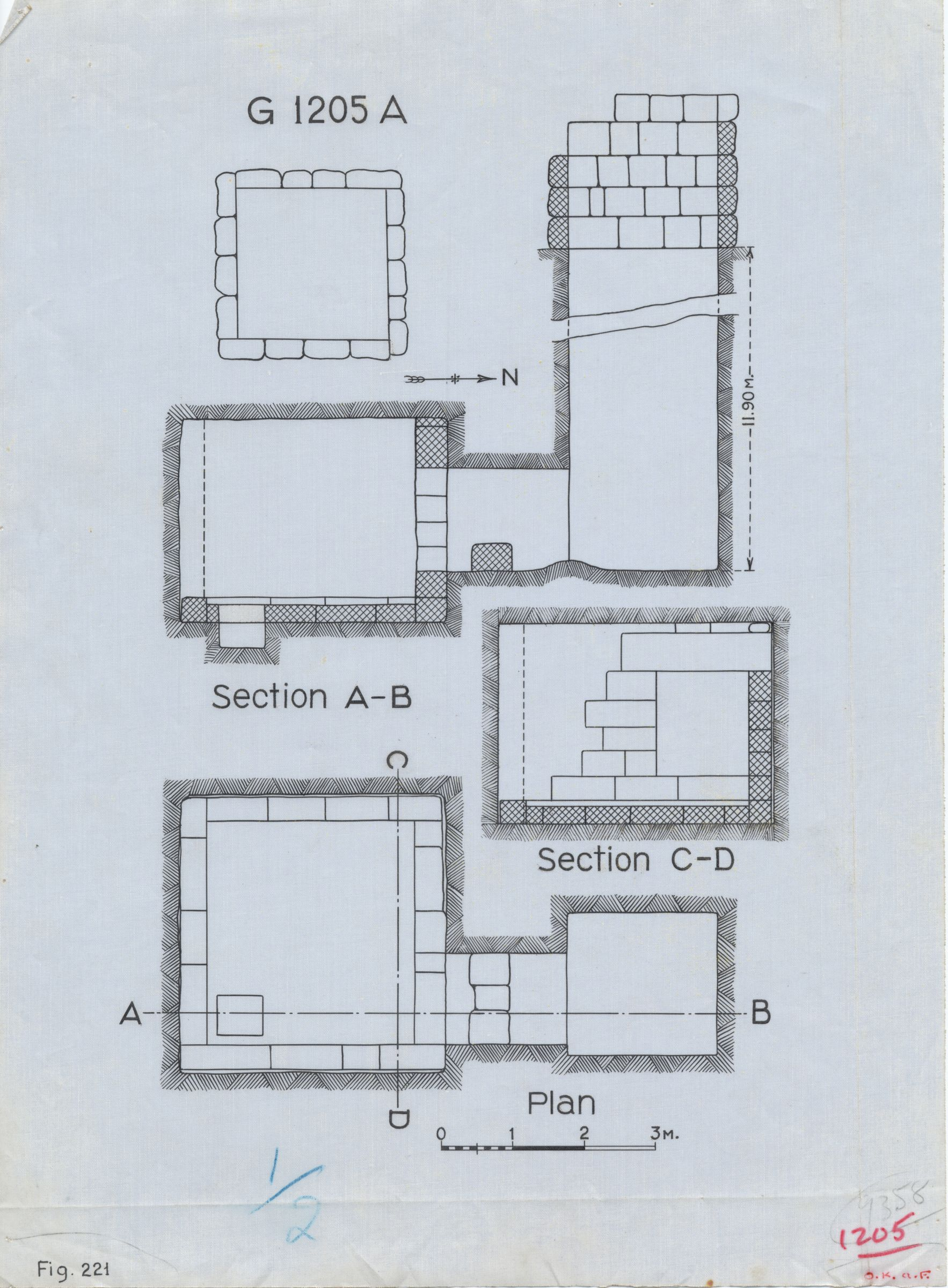 Maps and plans: G 1205, Shaft A