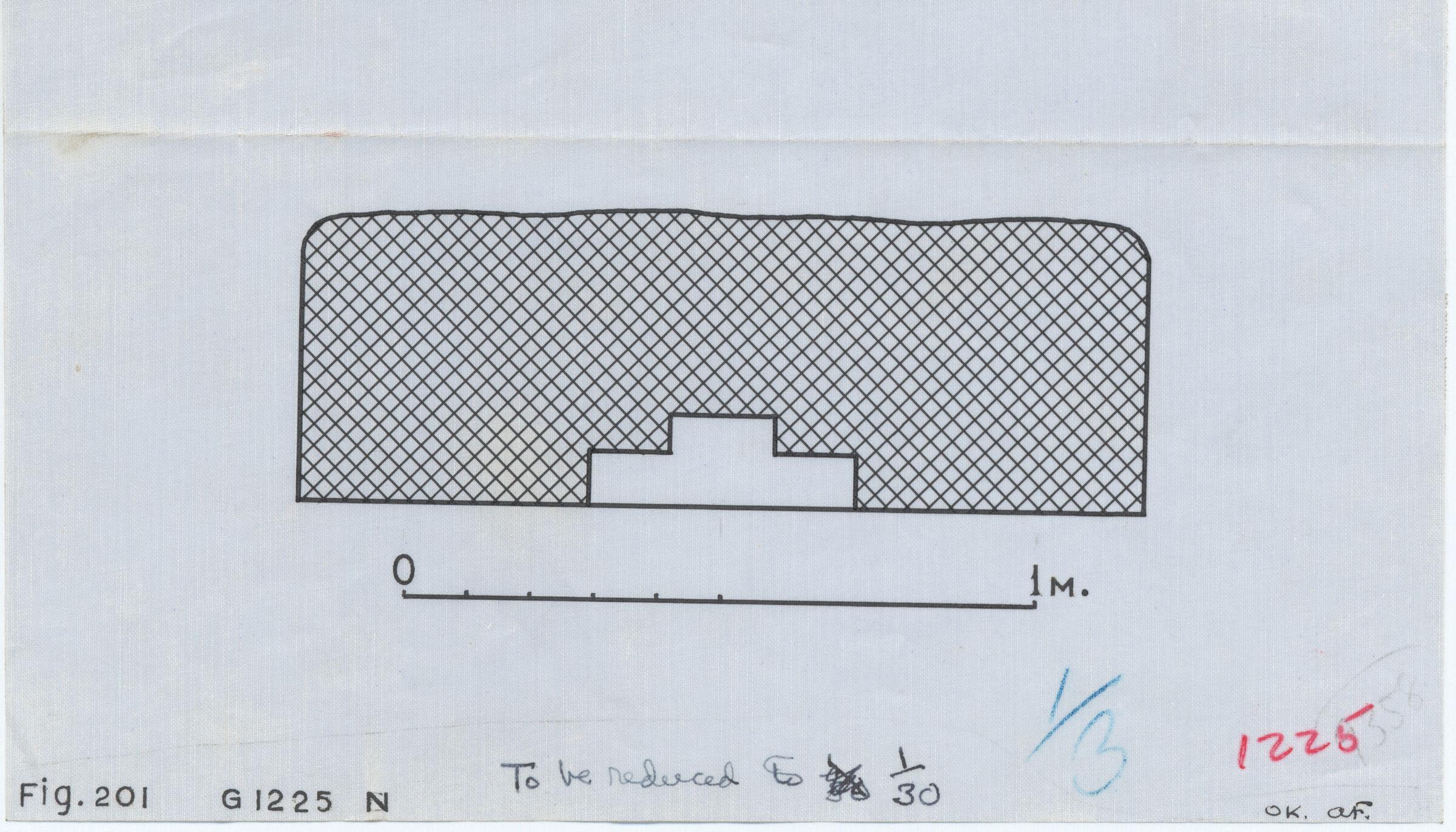 Maps and plans: G 1225, Plan of north niche (= niche of G 1225-Annex chapel)