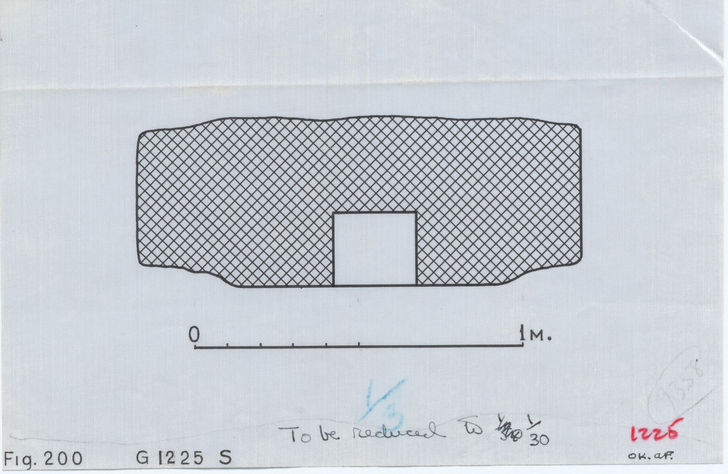 Maps and plans: G 1225, Plan of south niche