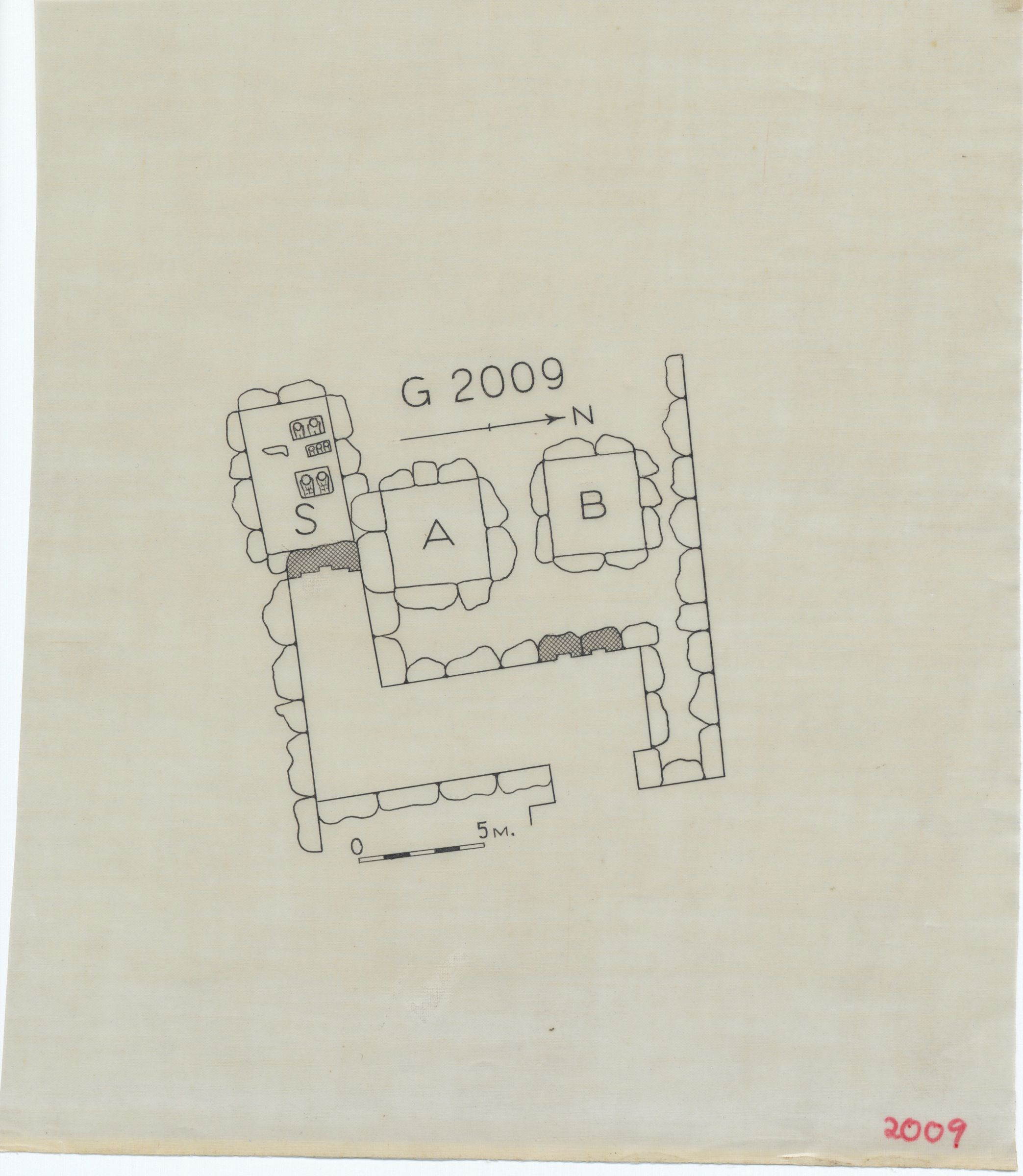Maps and plans: G 2009, Plan of chapel area