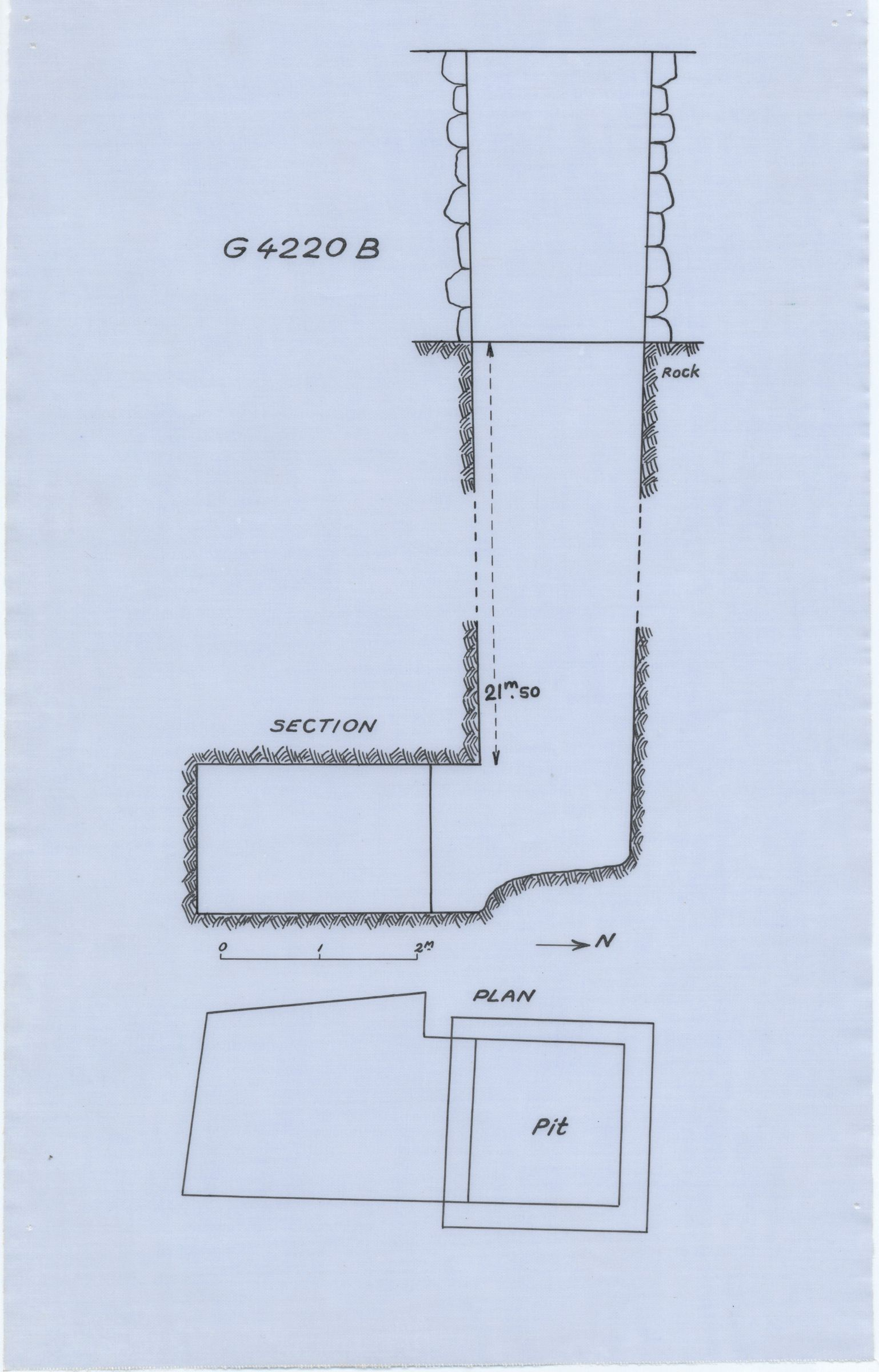 Maps and plans: G 4920, Shaft B