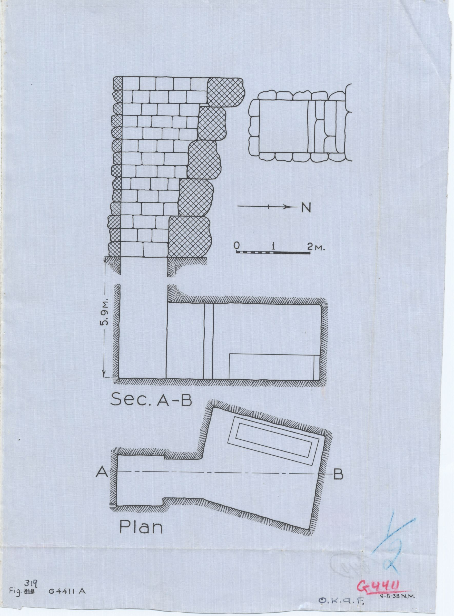 Maps and plans: G 4411, Shaft A