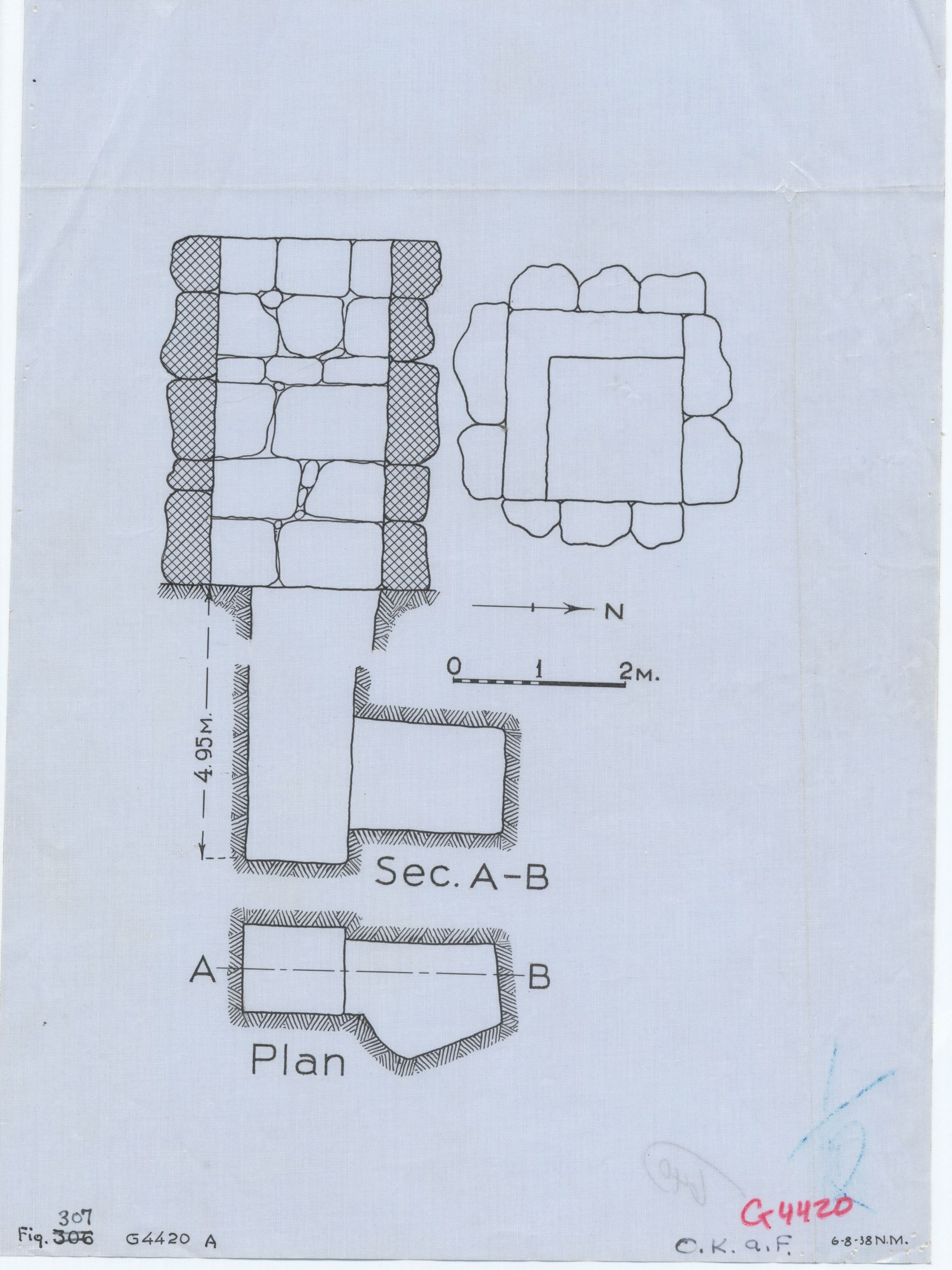 Maps and plans: G 4420, Shaft A