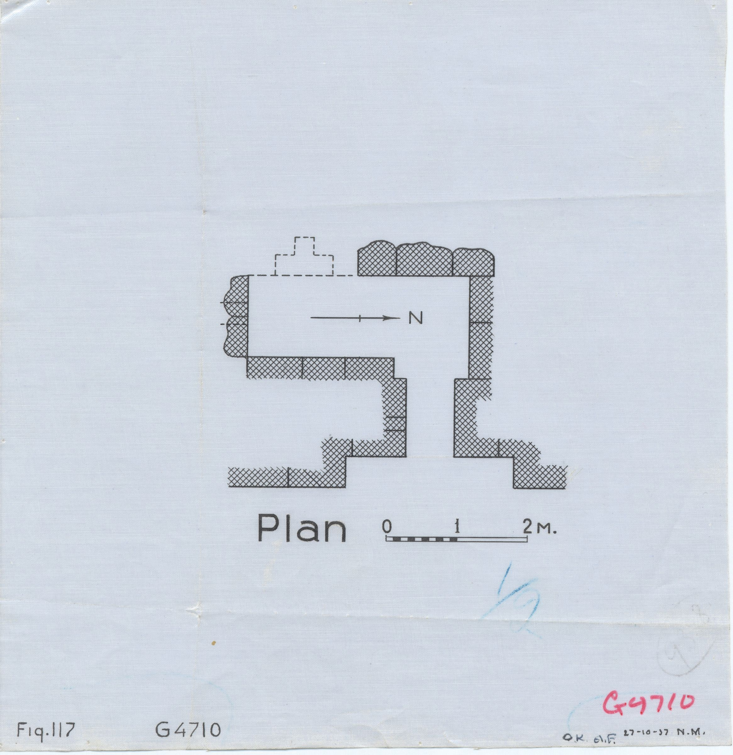 Maps and plans: G 4710, Plan of chapel