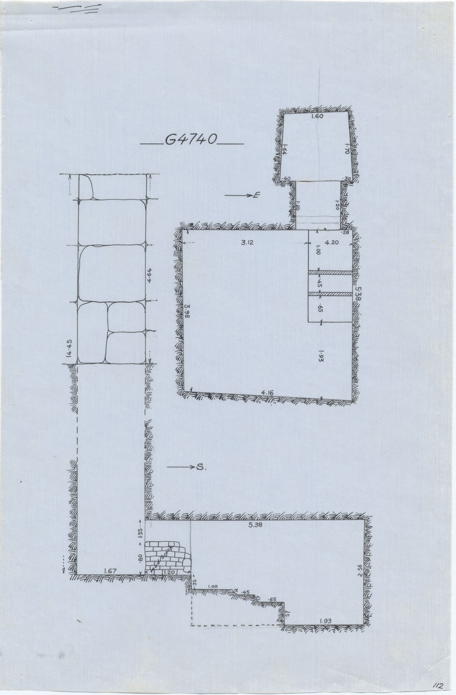 Maps and plans: G 4740, Shaft A