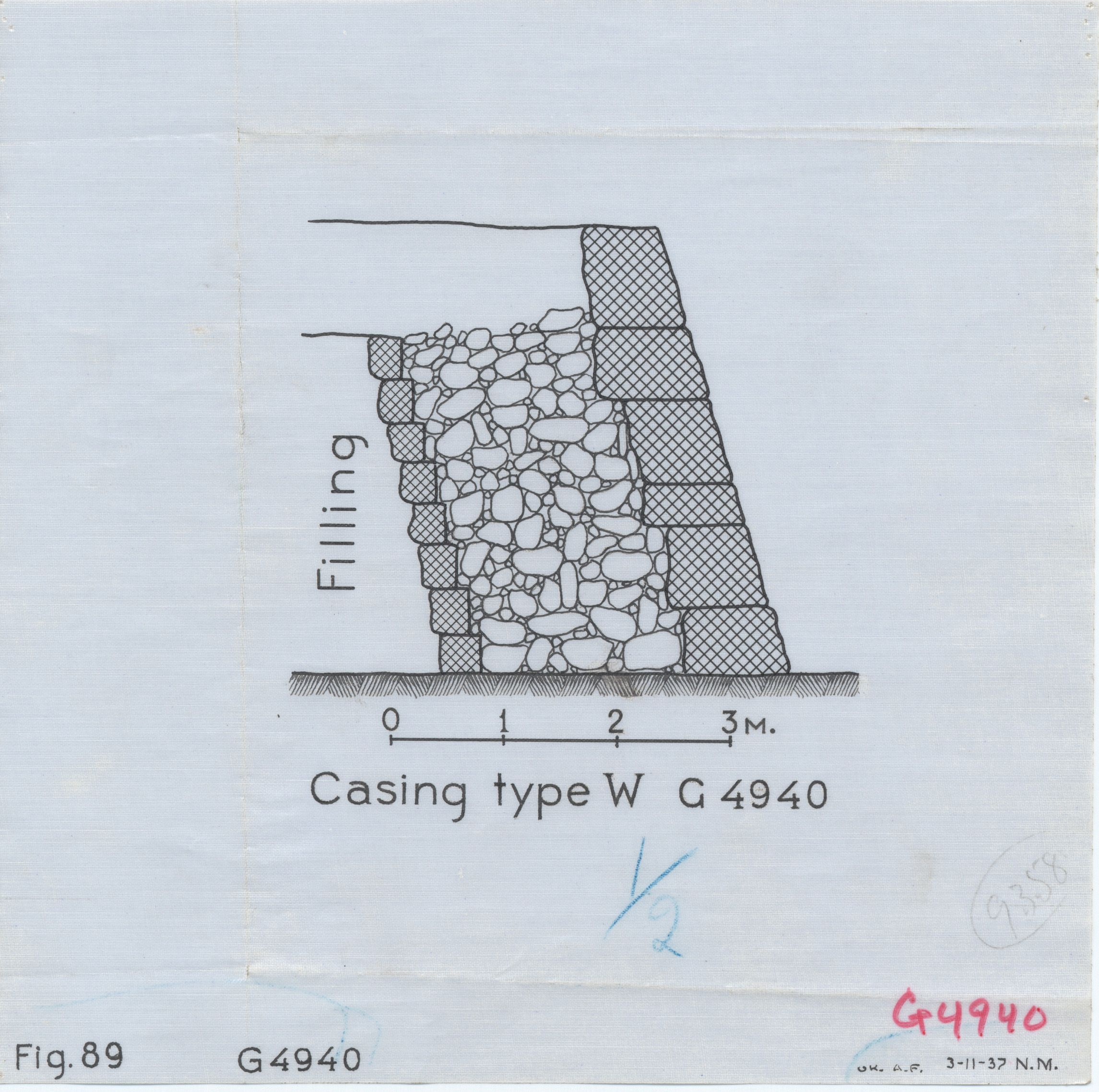 Maps and plans: G 4940, Section of casing type W