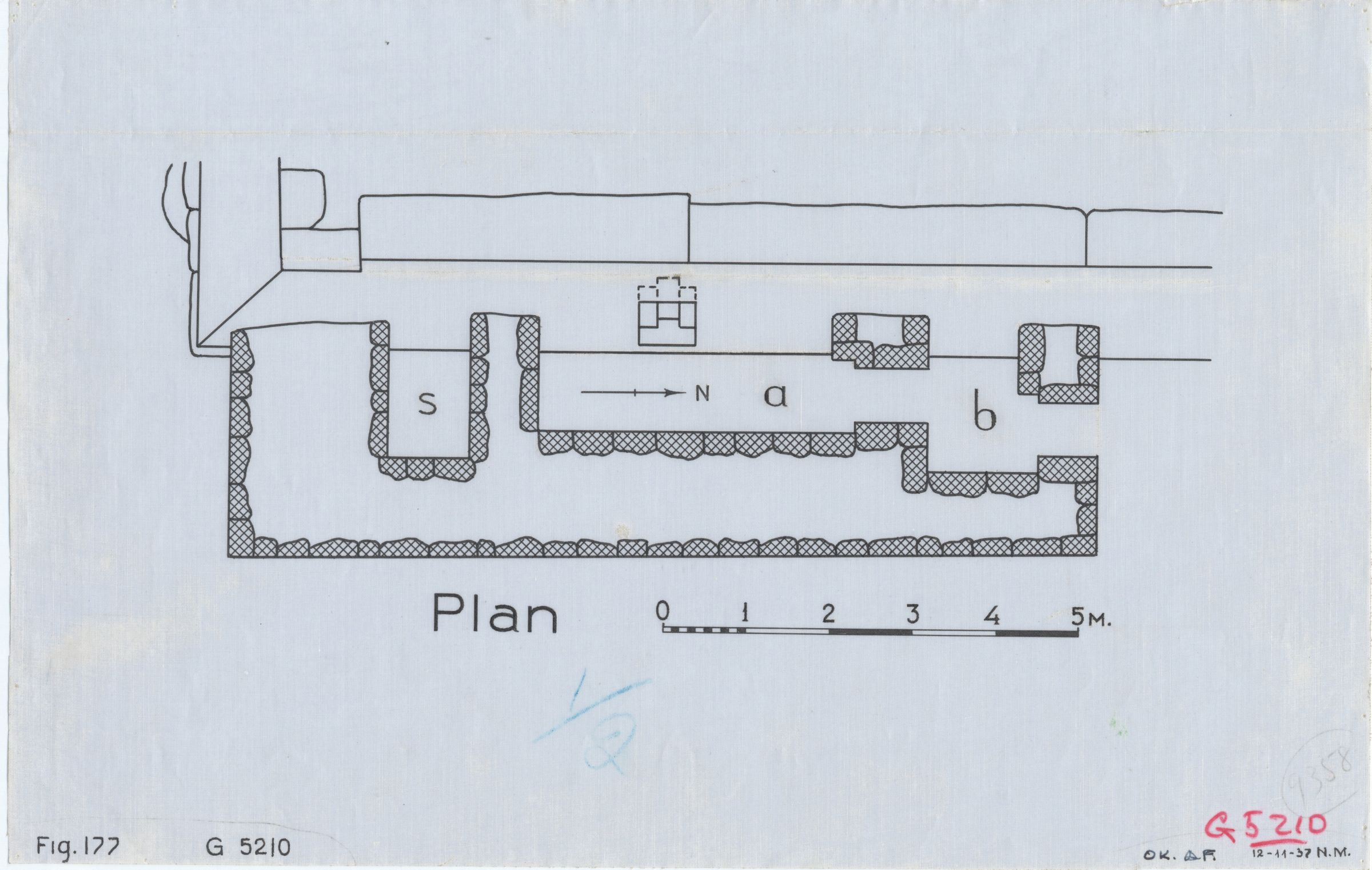 Maps and plans: G 5210, Plan of chapel