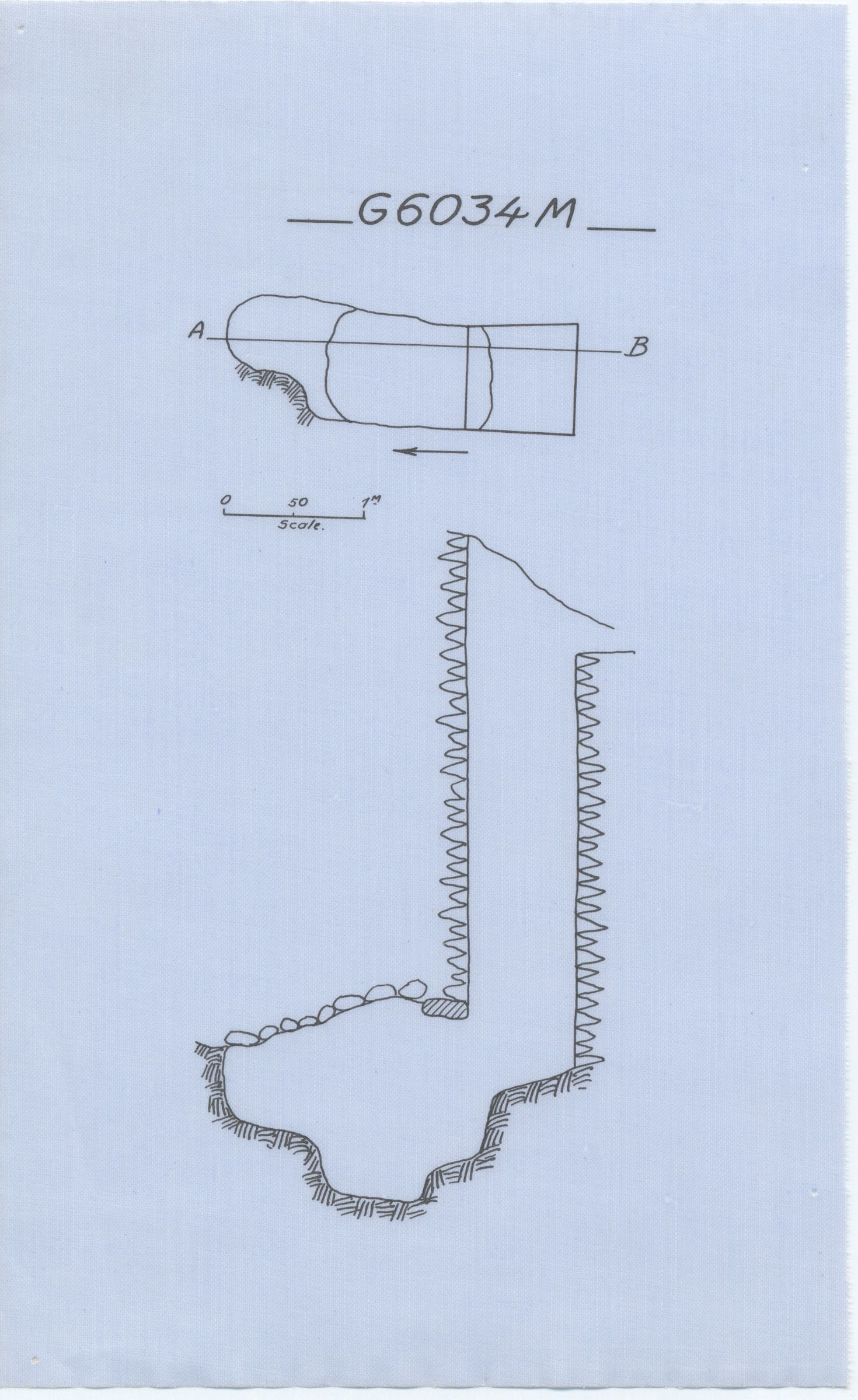 Maps and plans: G 6034, Shaft M