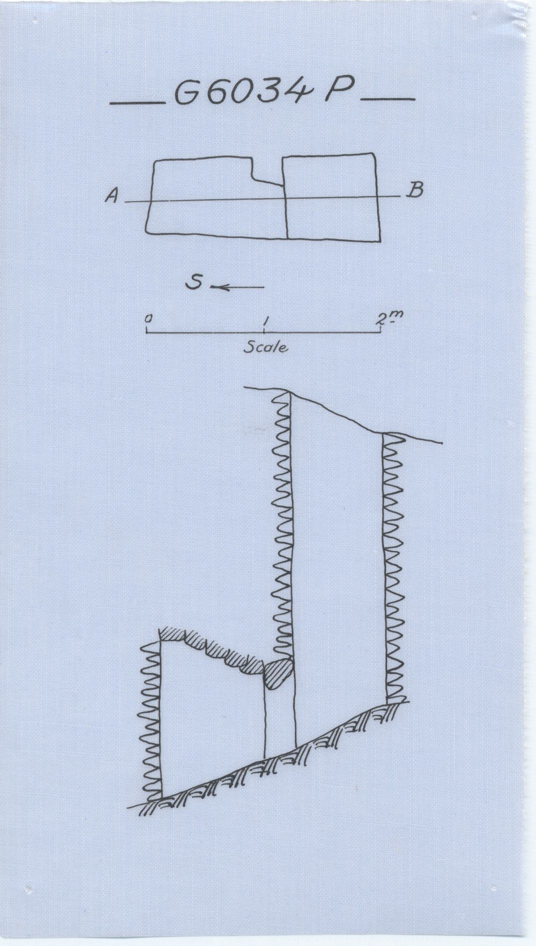 Maps and plans: G 6034, Shaft P