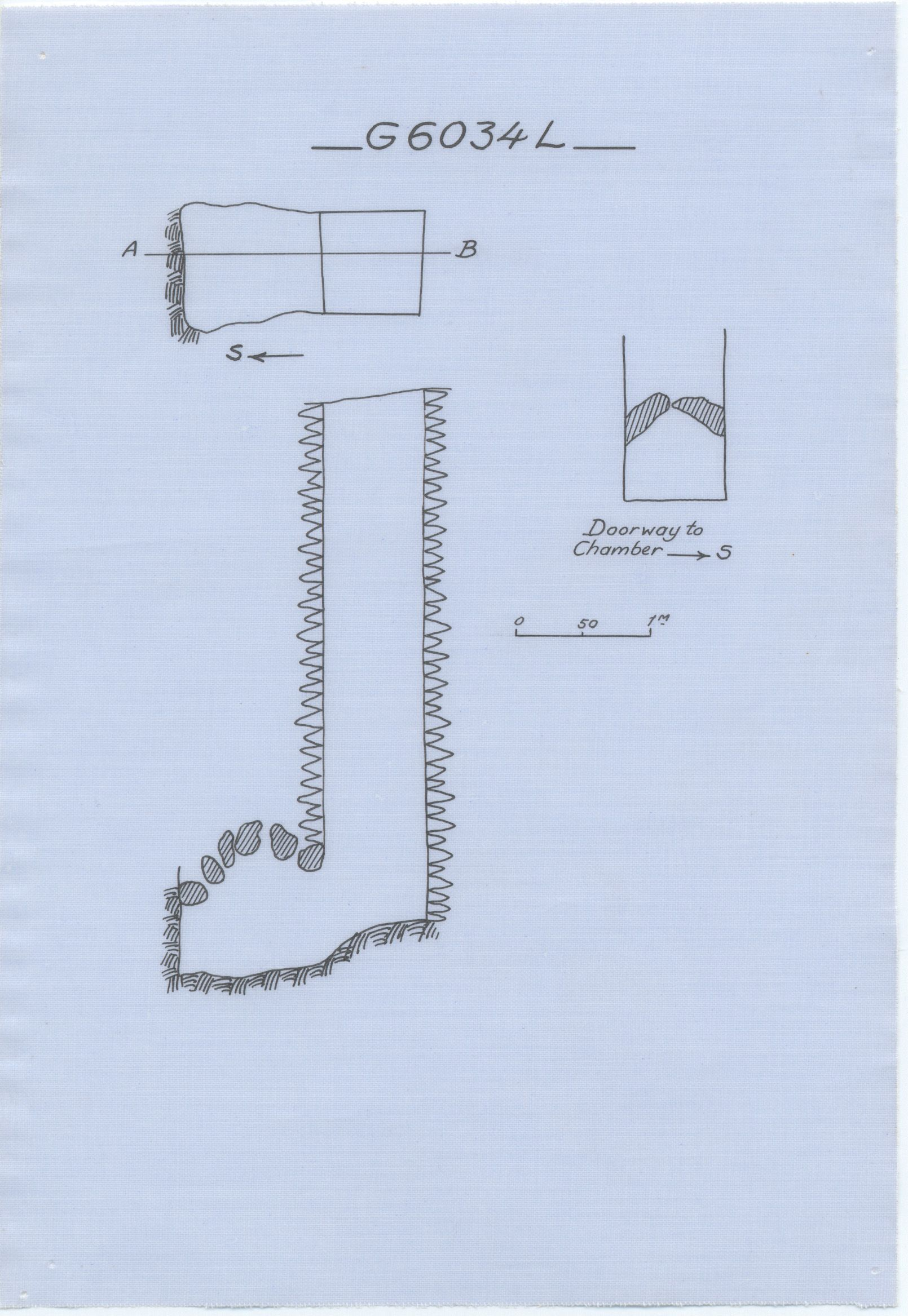 Maps and plans: G 6034, Shaft L