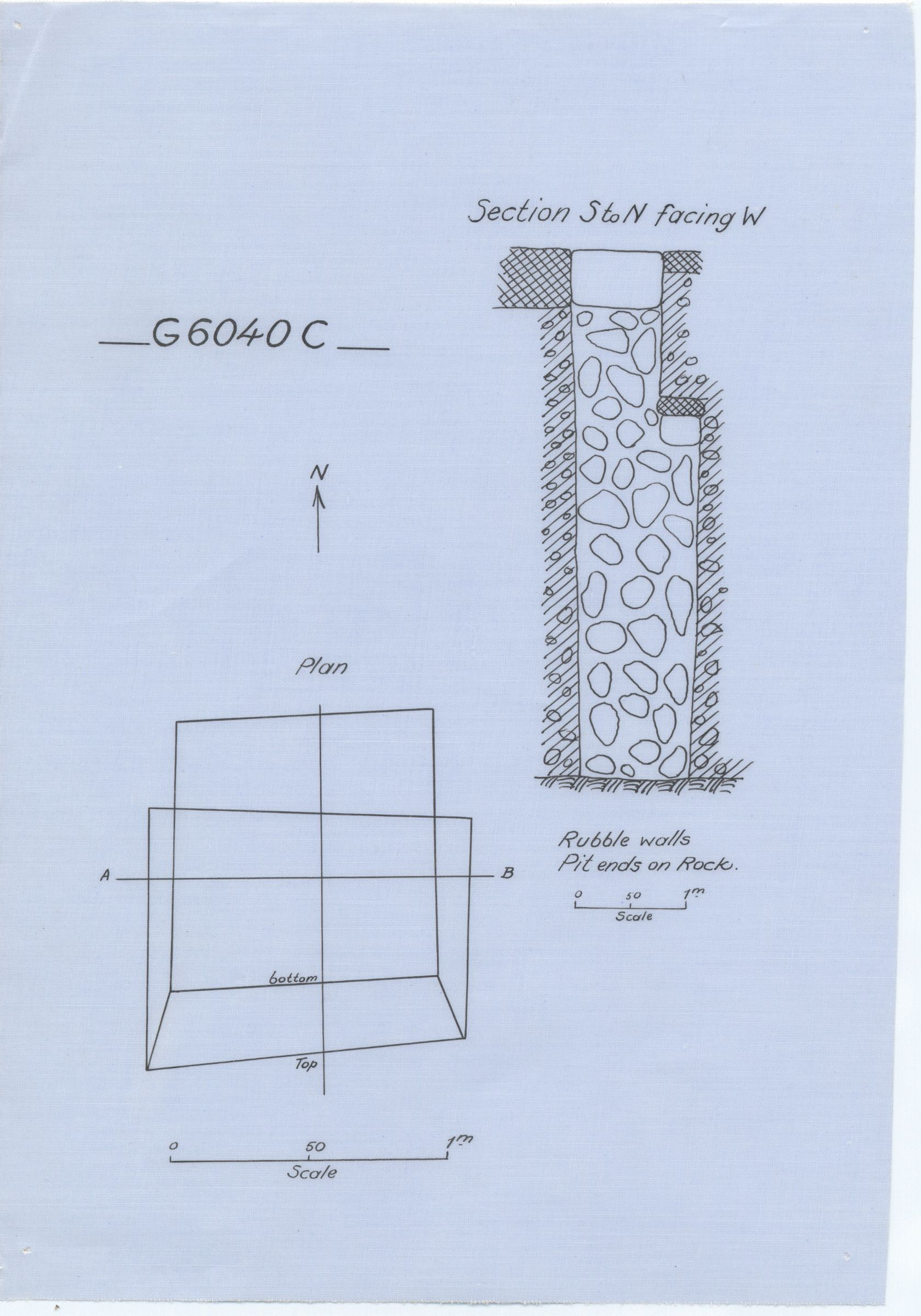 Maps and plans: G 6040, Shaft C