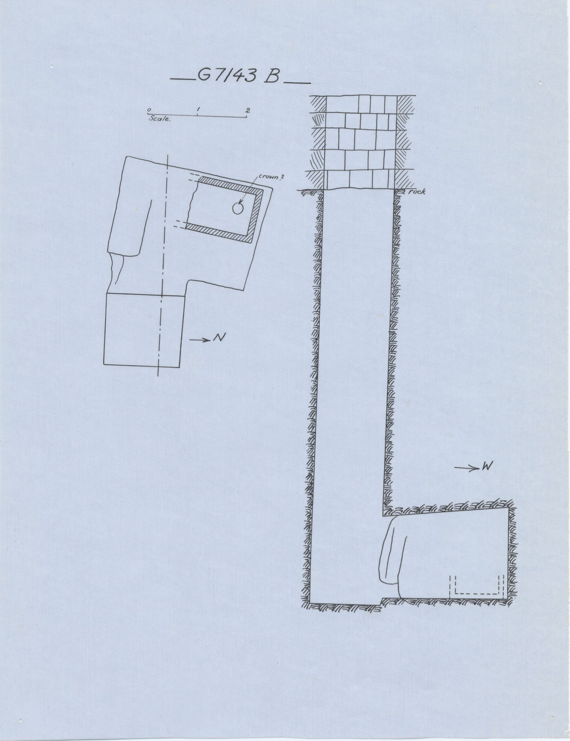 Maps and plans: G 7143, Shaft B