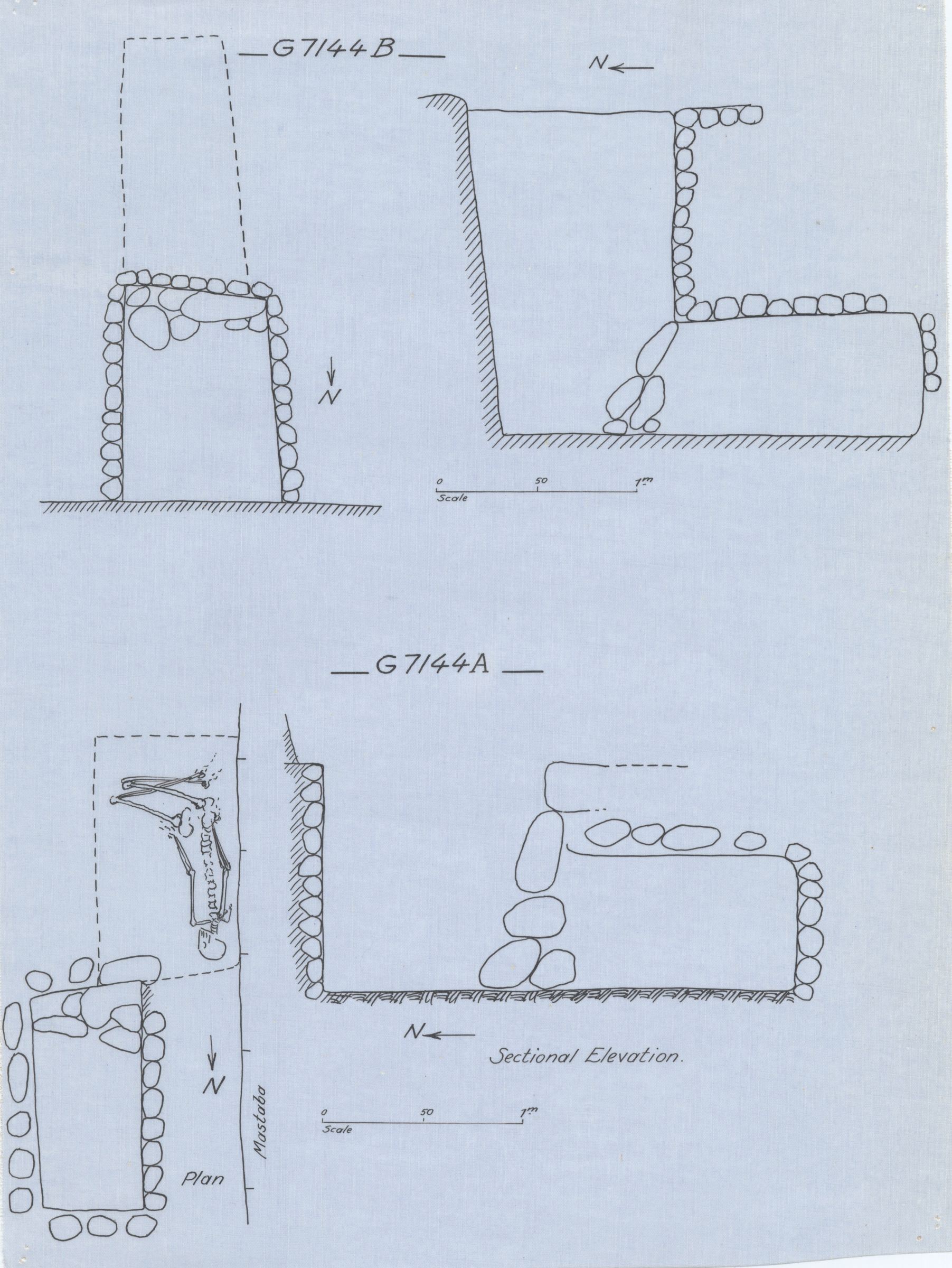 Maps and plans: G 7144, Shaft A and B