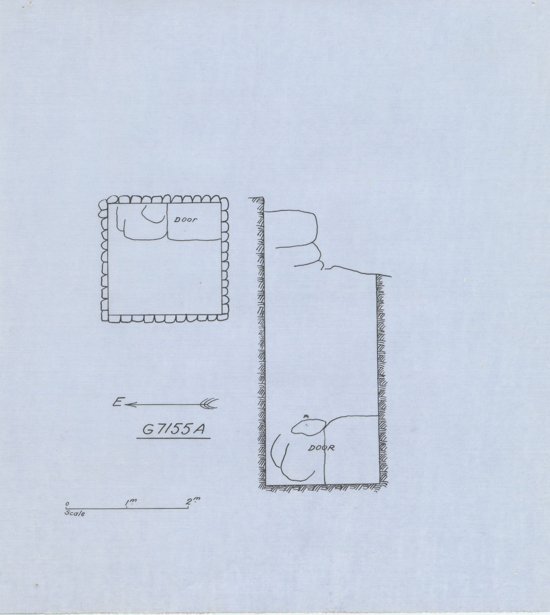 Maps and plans: G 7155, Shaft A