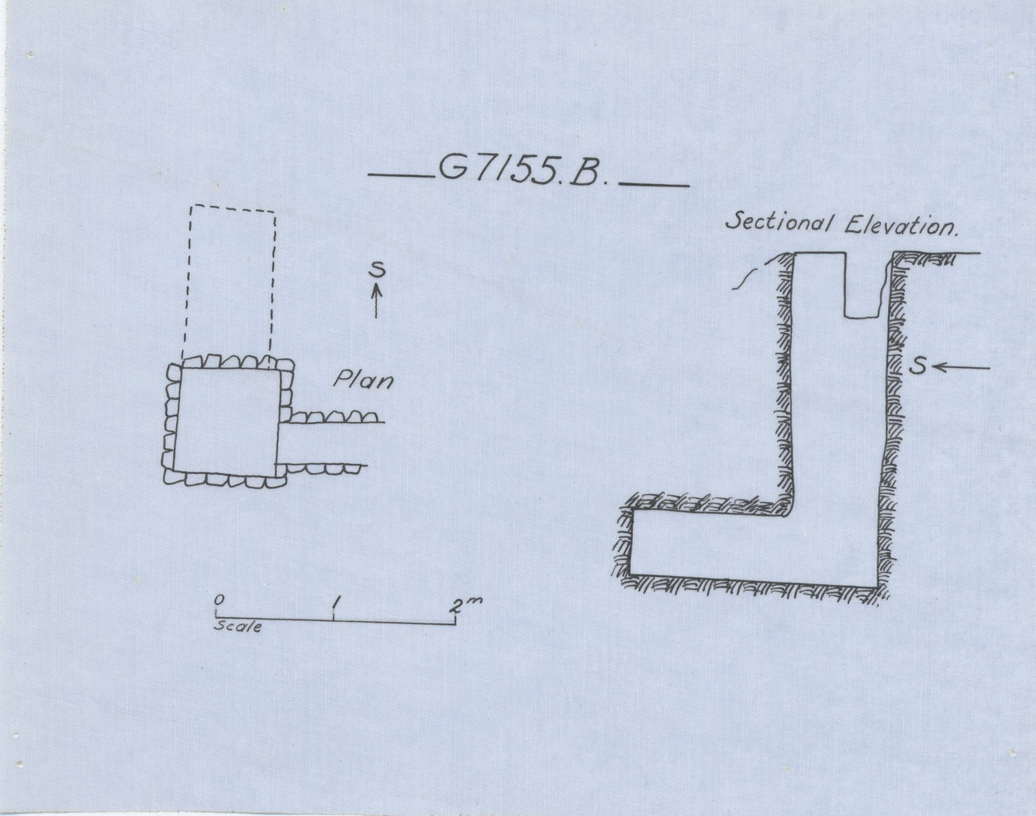 Maps and plans: G 7155, Shaft B