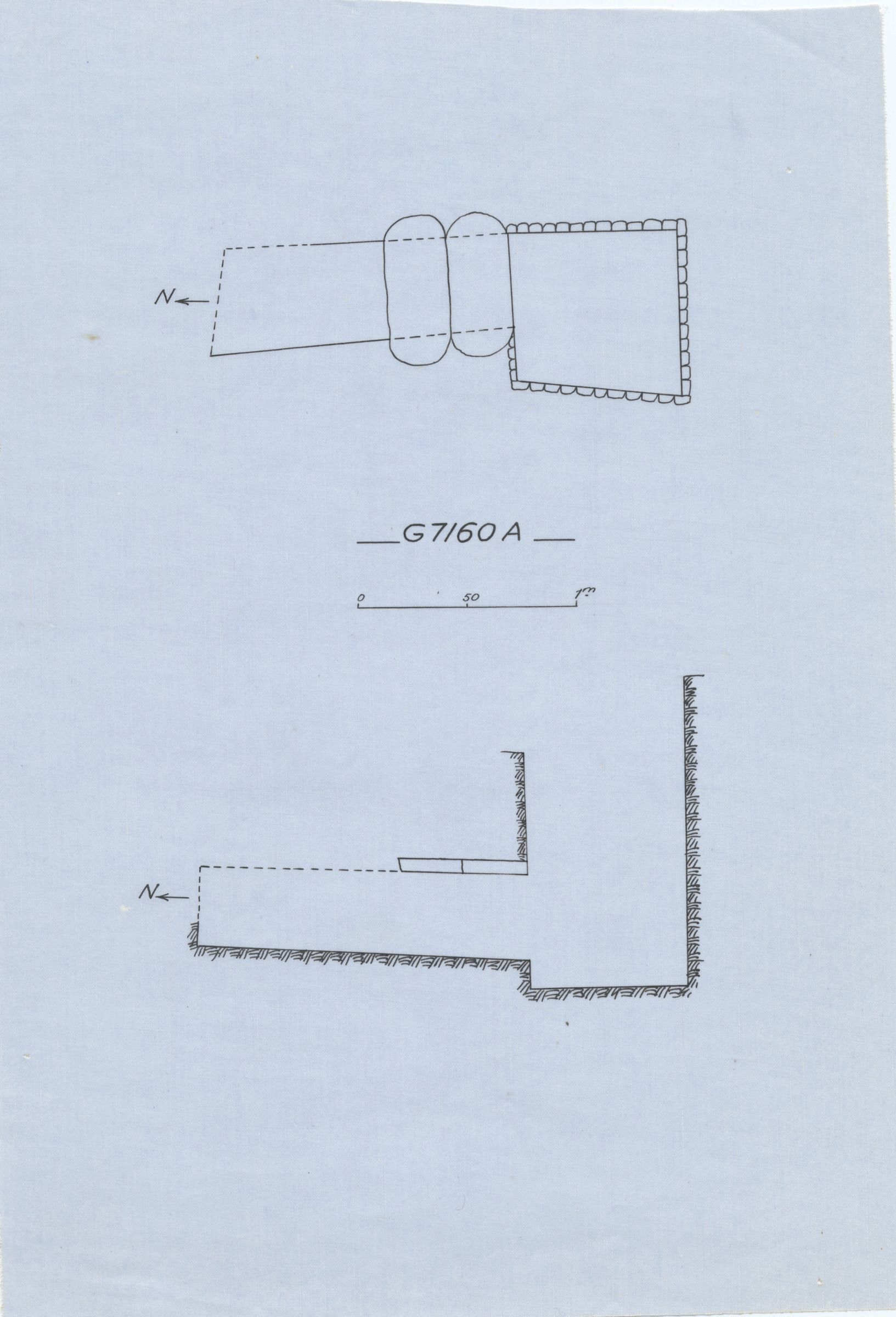 Maps and plans: G 7160, Shaft A