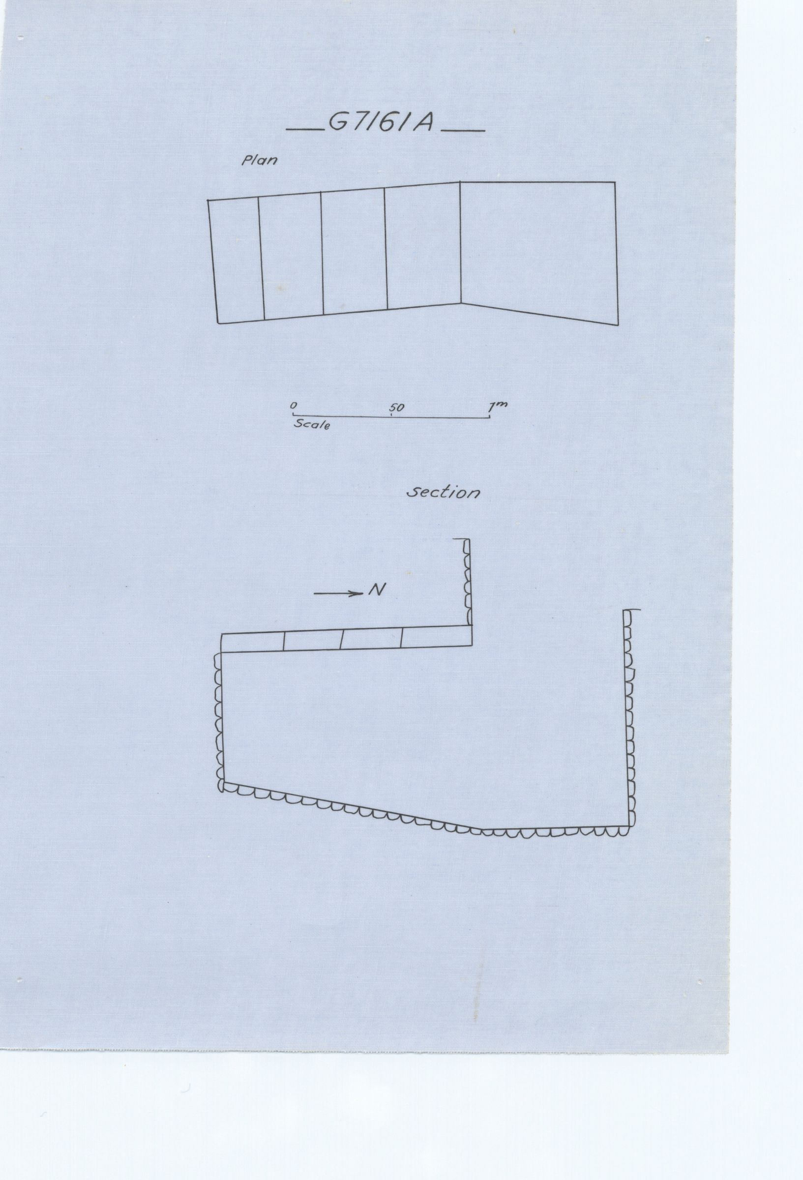 Maps and plans: G 7161, Shaft A