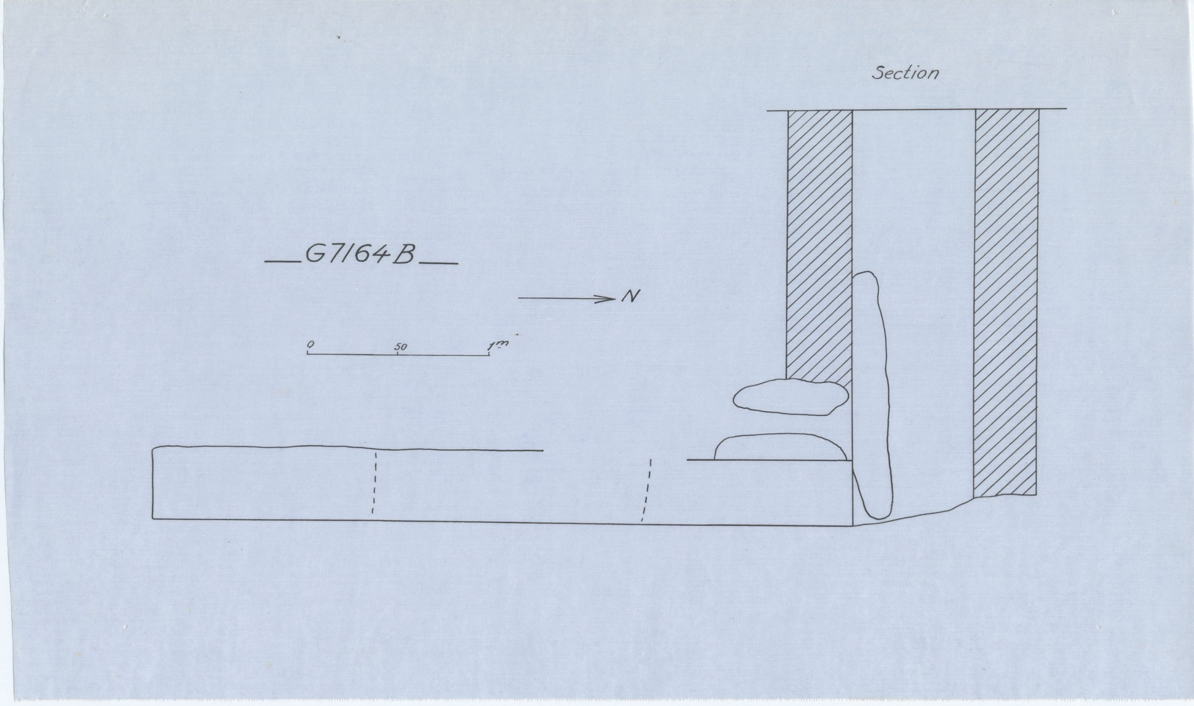 Maps and plans: G 7164, Shaft B
