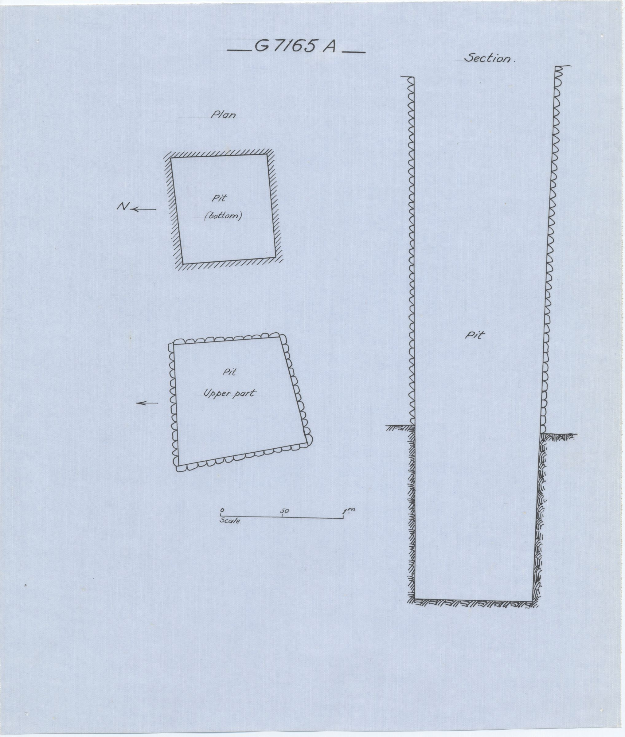 Maps and plans: G 7165, Shaft A