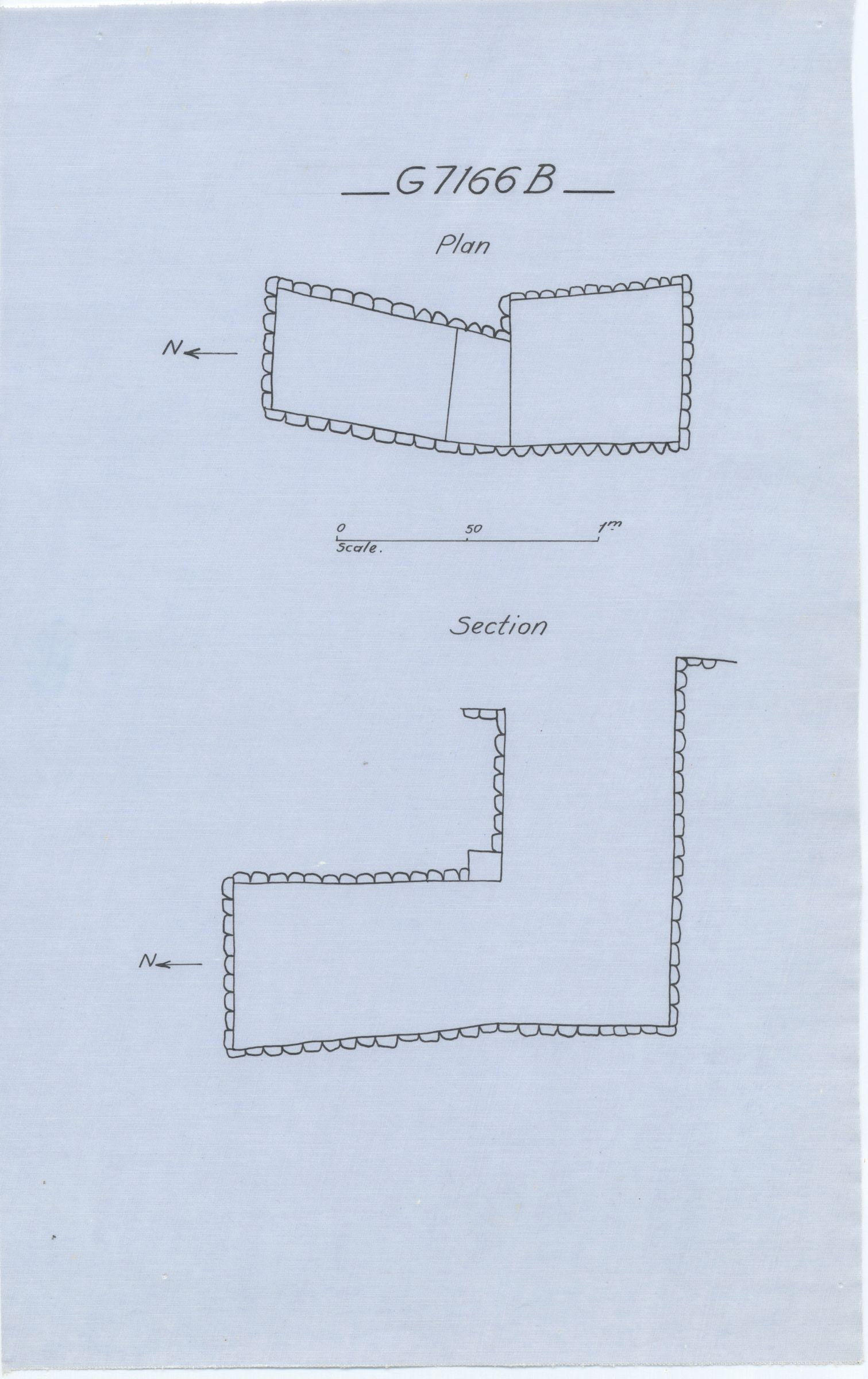 Maps and plans: G 7166, Shaft B