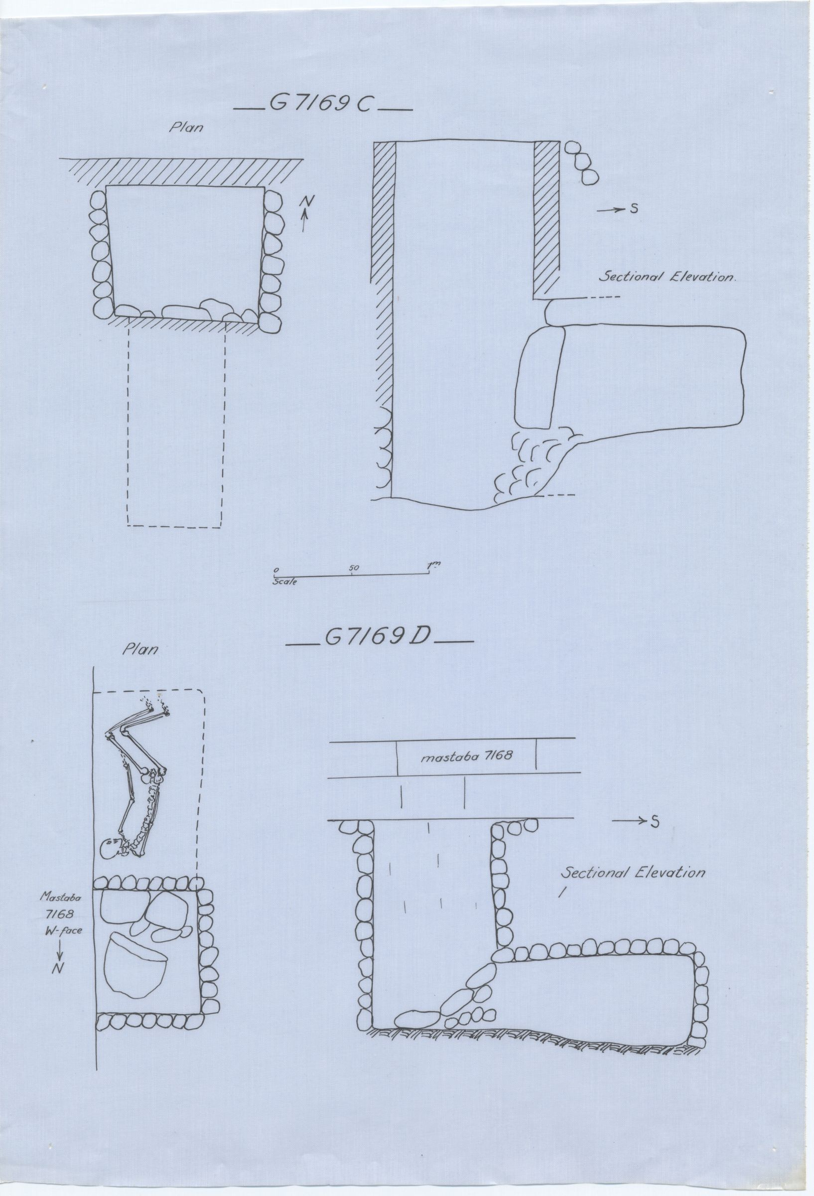 Maps and plans: G 7169, Shaft C and D